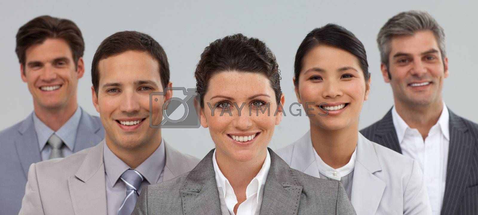 Royalty free image of Business group showing diversity standing together by Wavebreakmedia