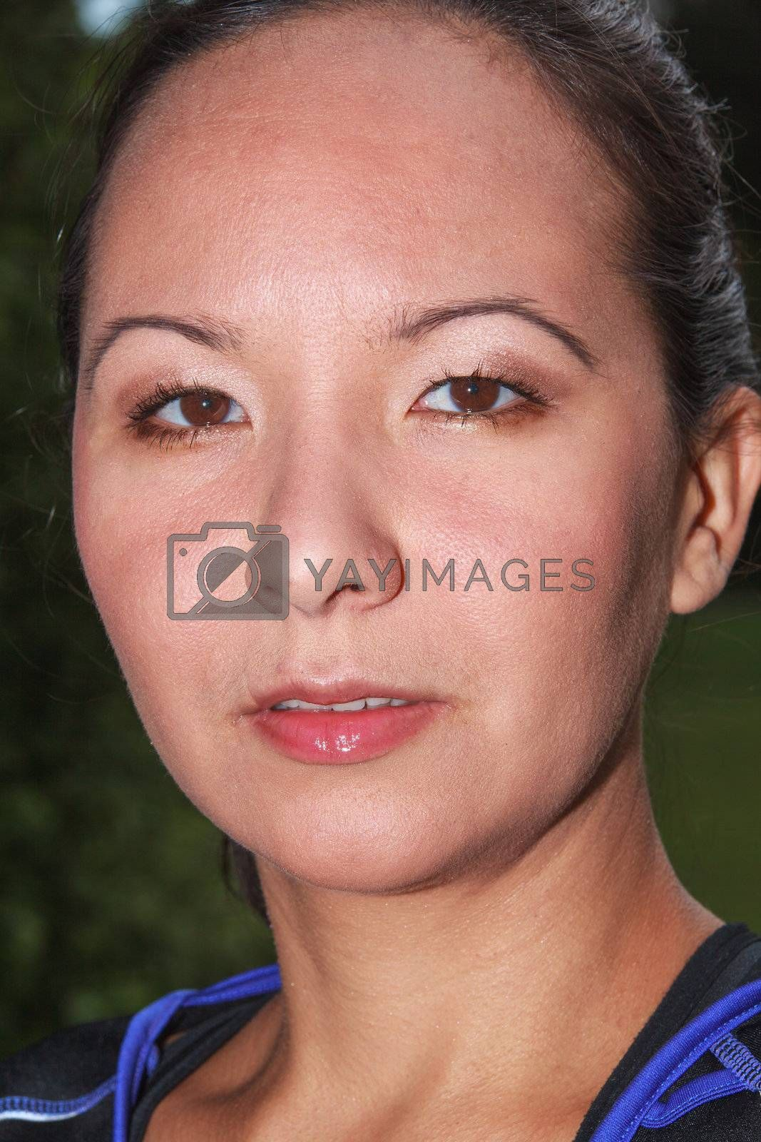 Portrait of a Mongolian woman from Siberia
