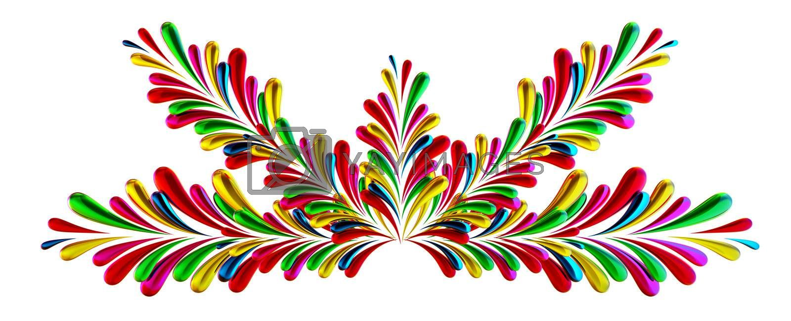 colorful abstract concept frame with many design elements on white background