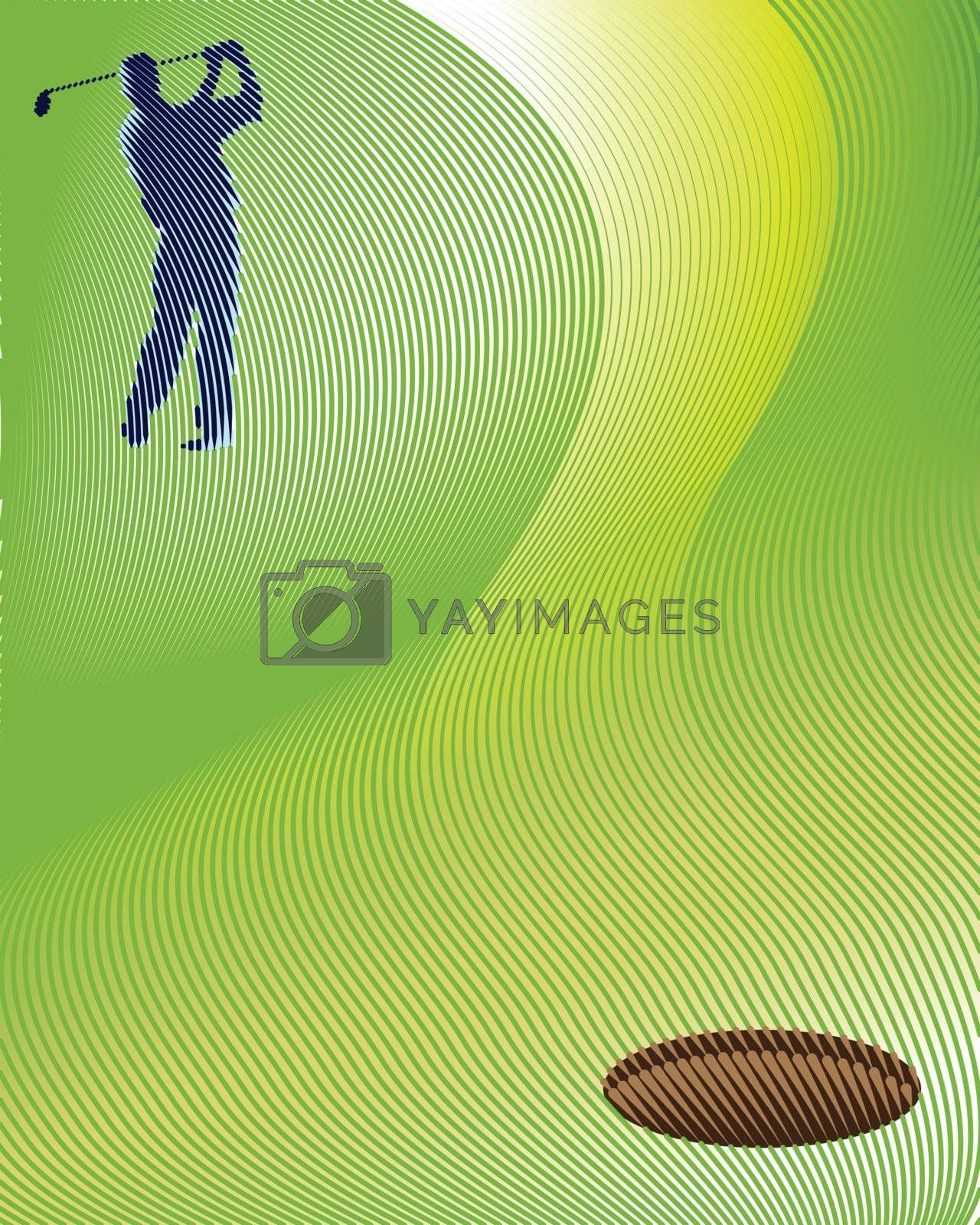 Golf background from Lines