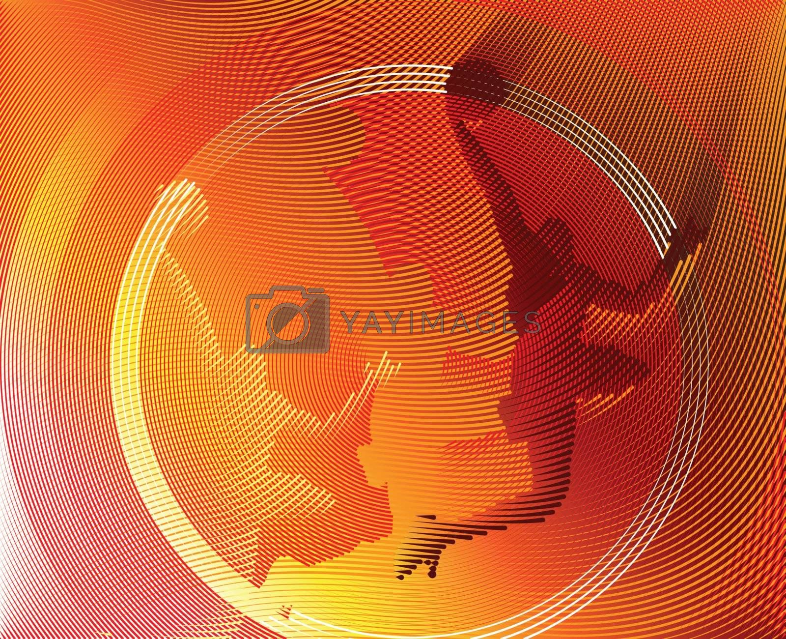 Basketball background from Lines