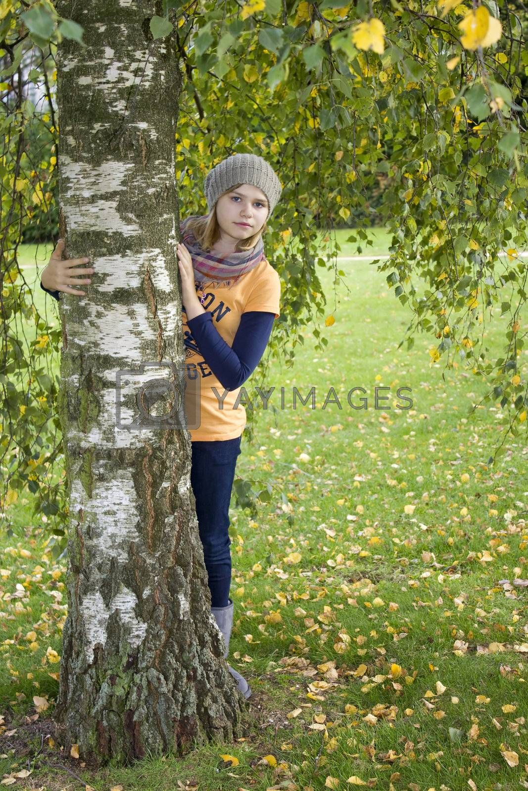 cute girl in the park