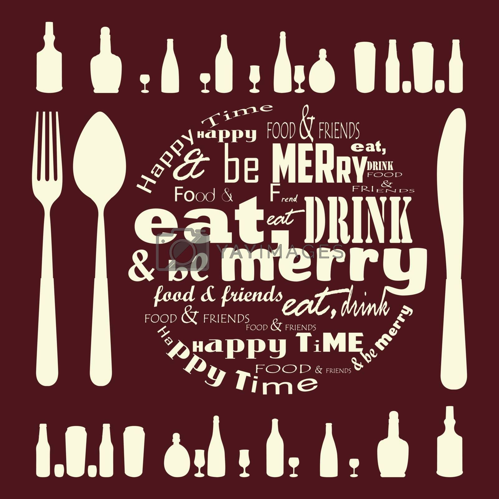 Eat, Drink and Be Merry typography