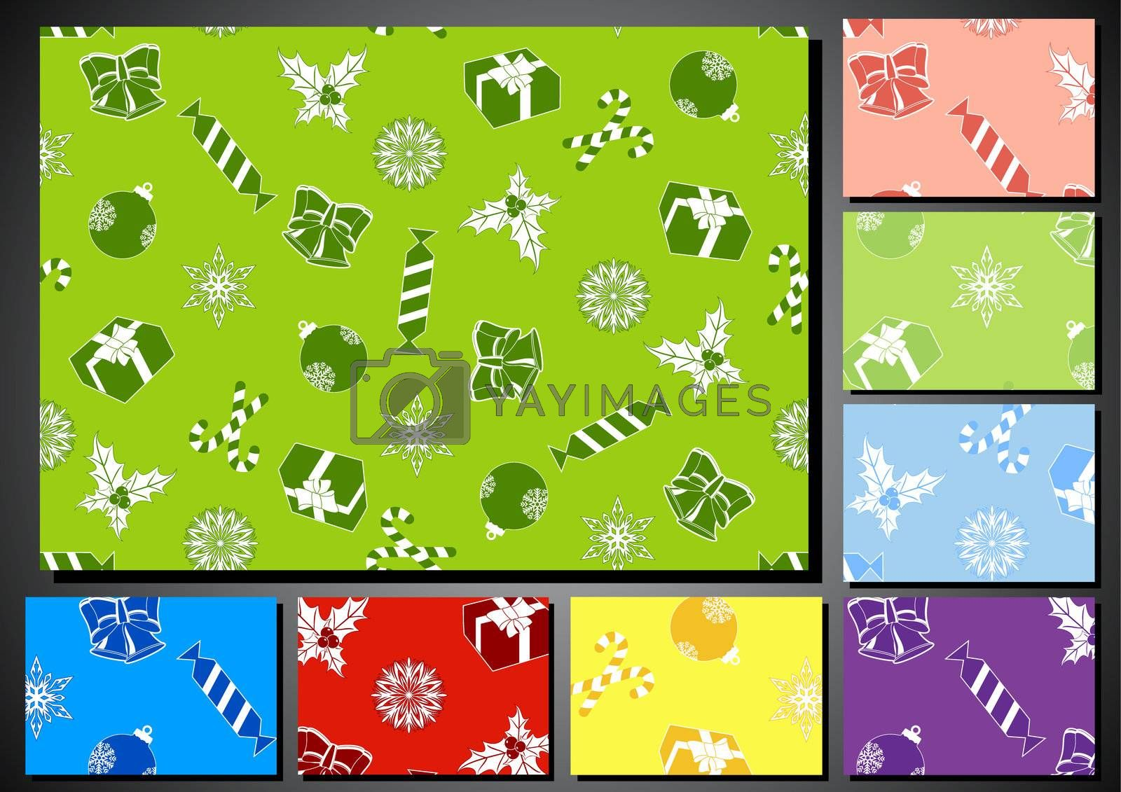 set of seamless backgrounds for the new year and Christmas