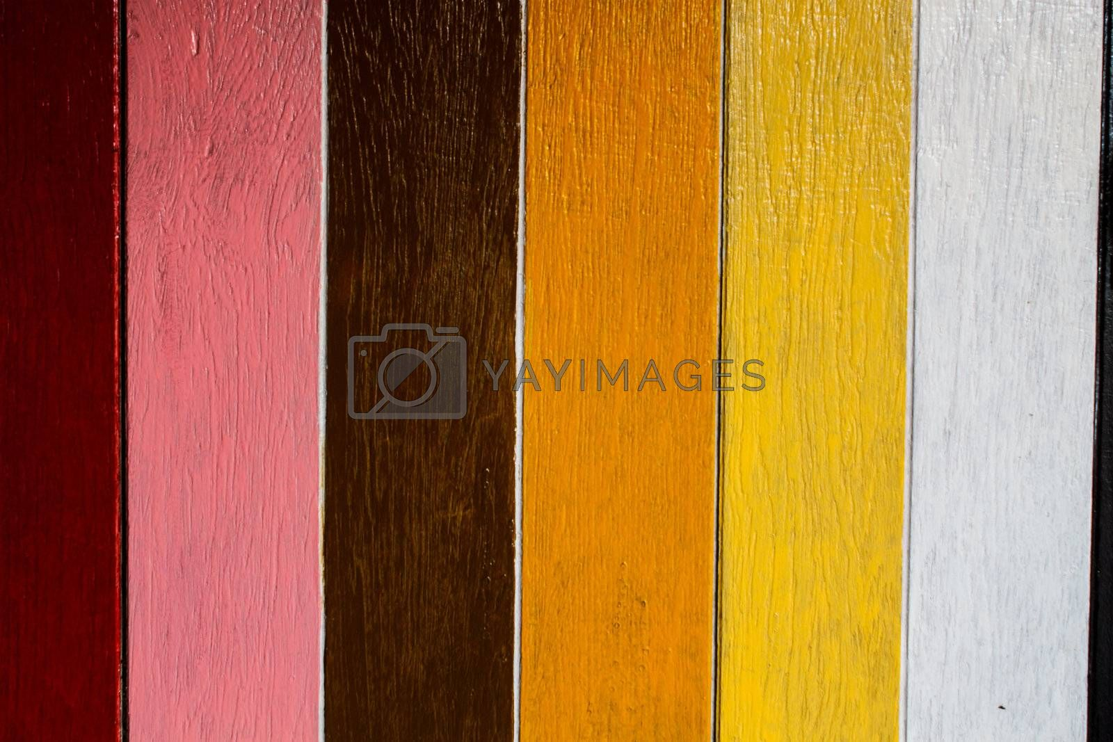 colorful wooden door or wall