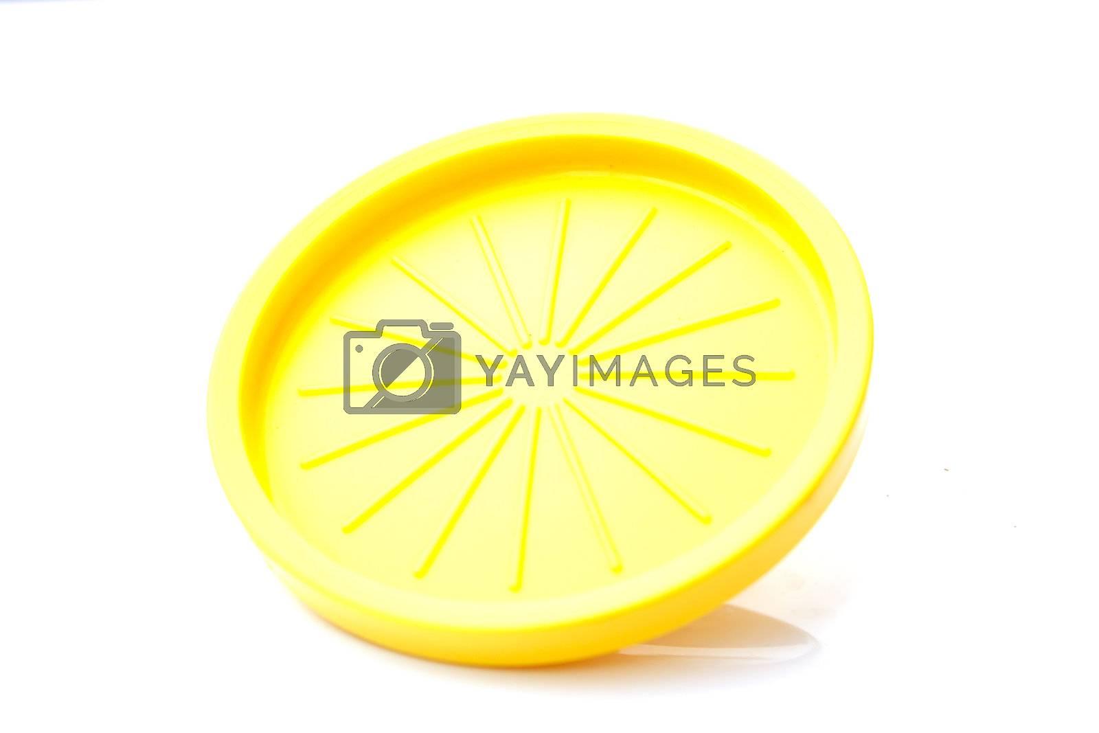 Yellow Plastic Saucer