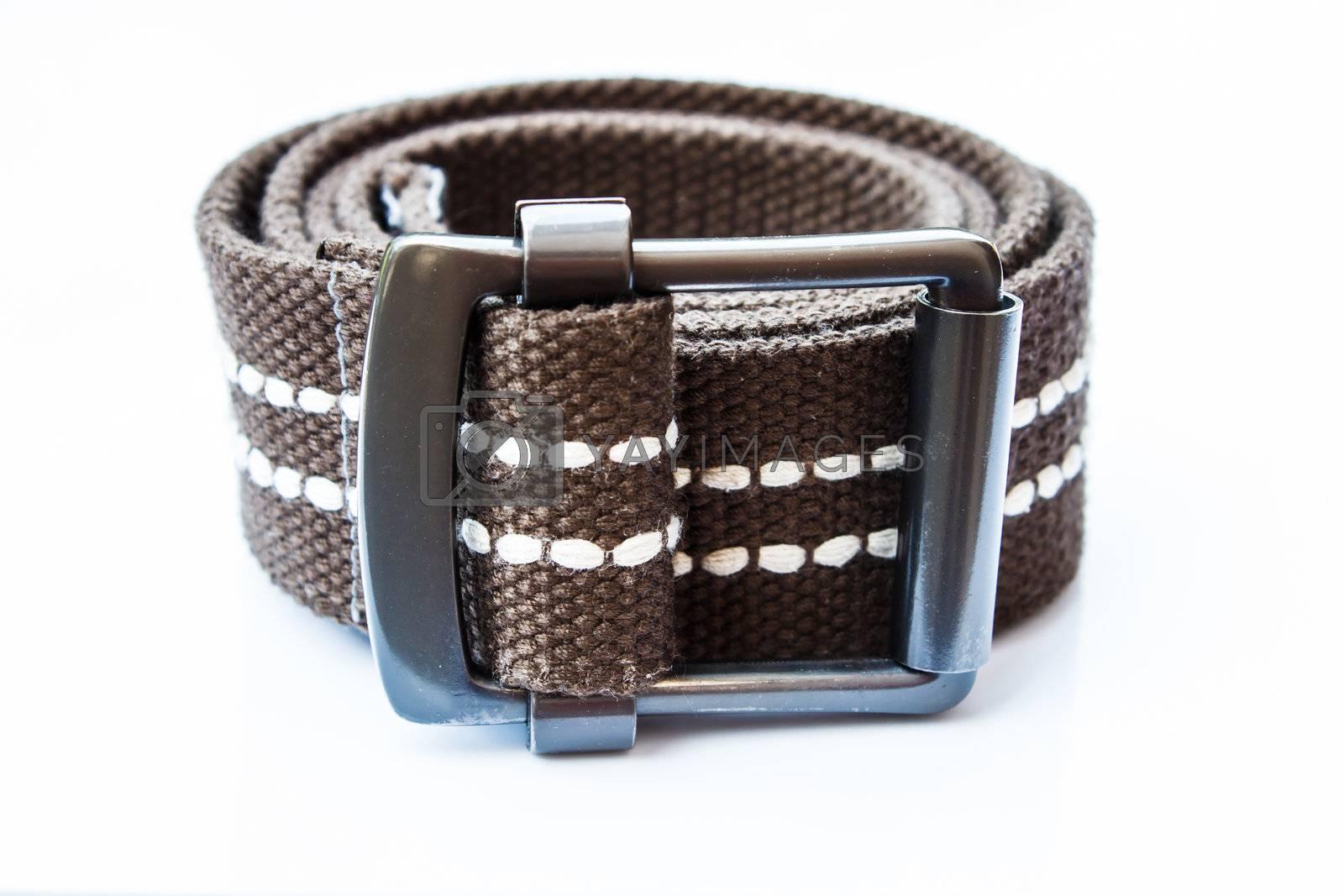 Belt on white background