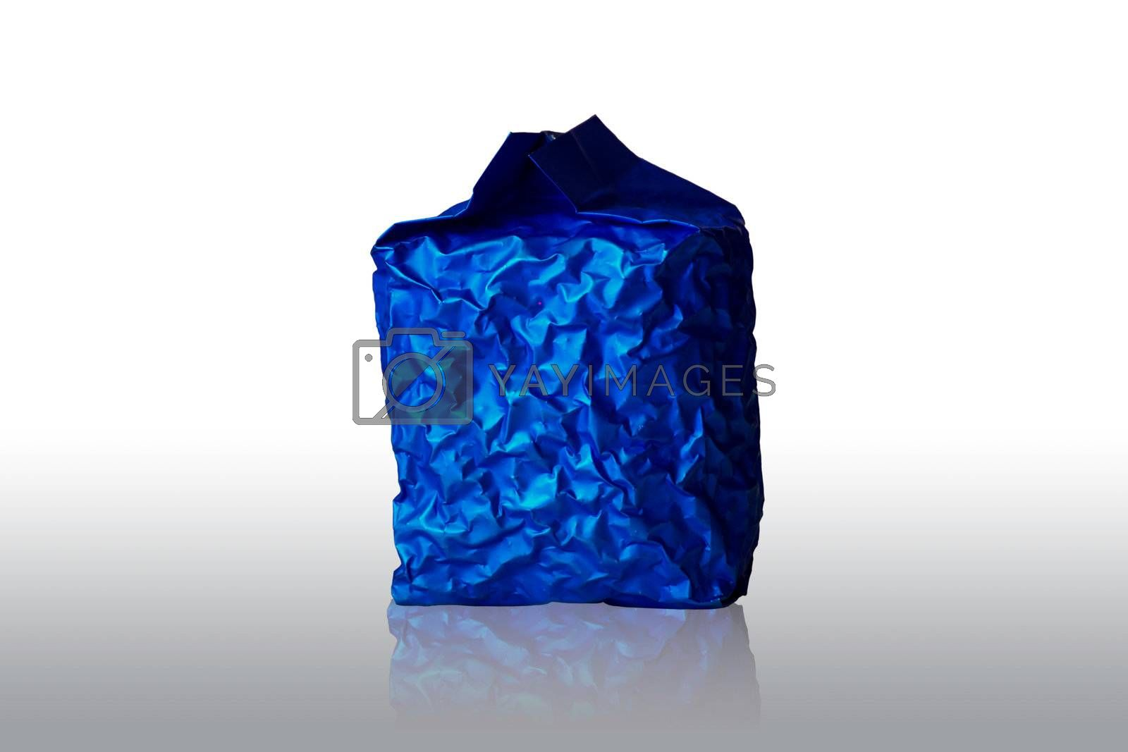 Blue Foil Packaging on white background