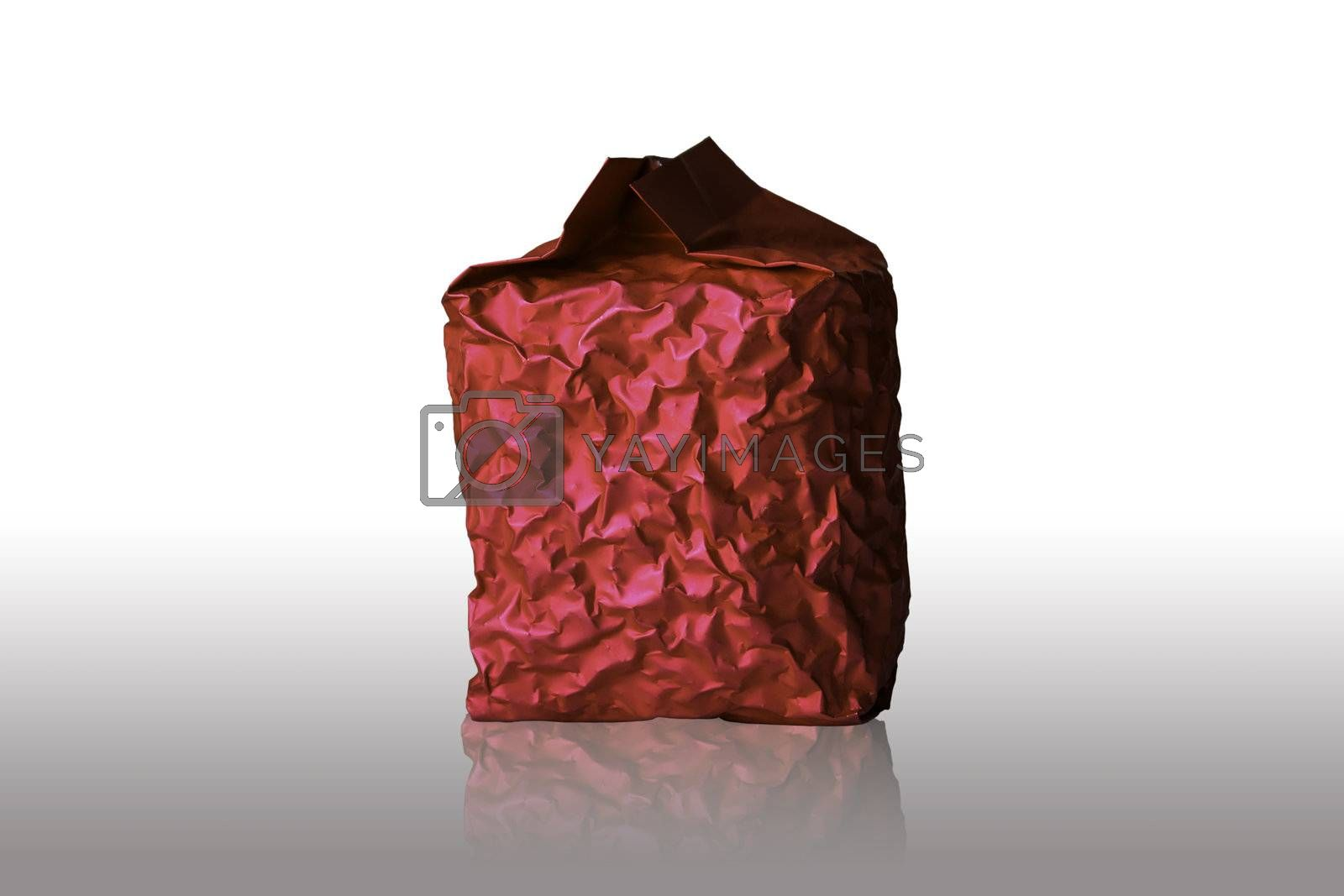 Red Foil Packaging on white background
