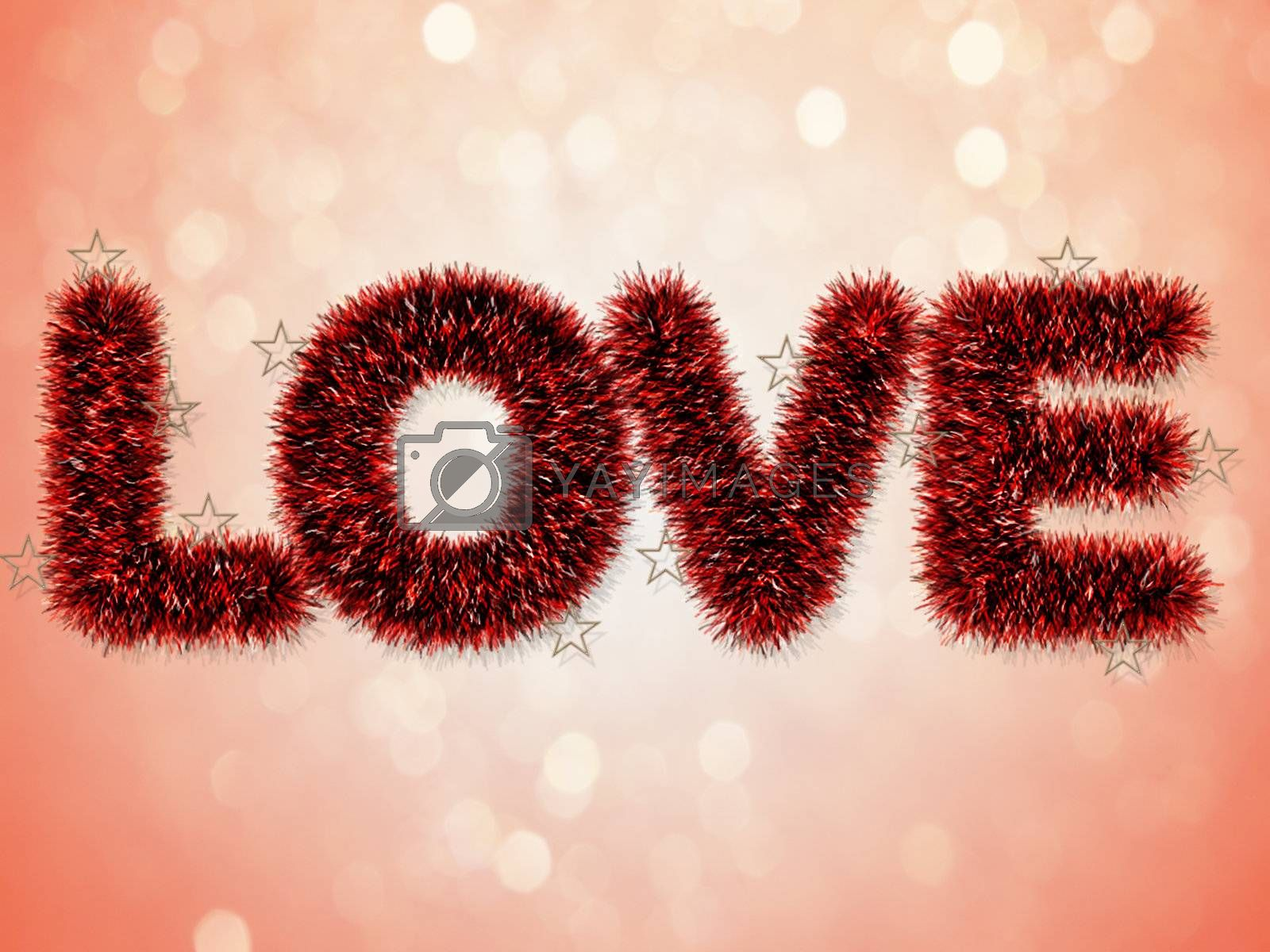 Red Love Text