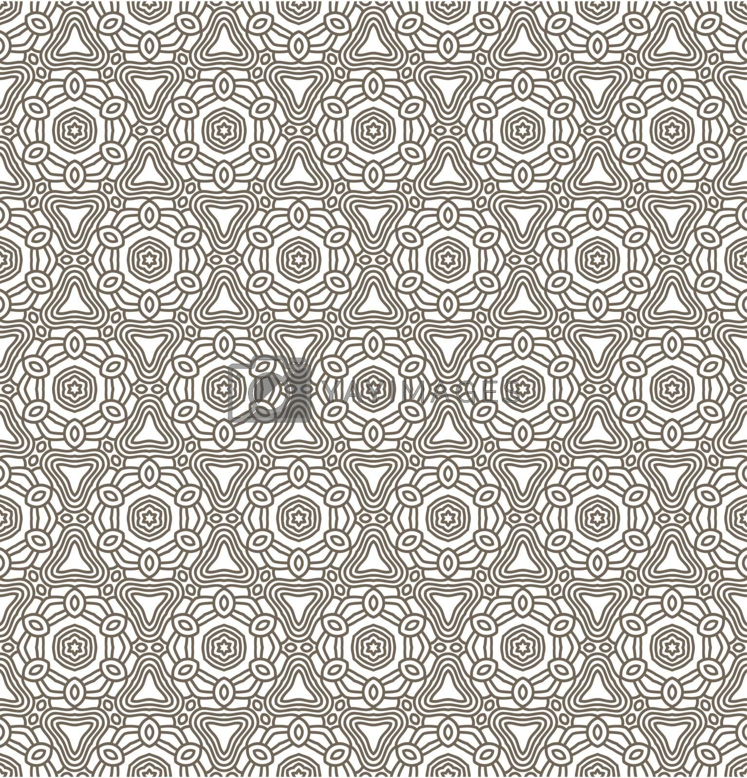 Seamless wallpaper with aztec ornament in brown and beige colors