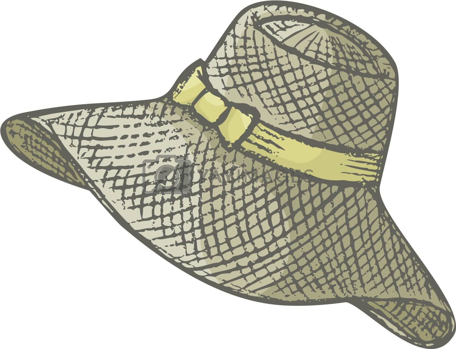 Hand drawn female summer hat by sifis
