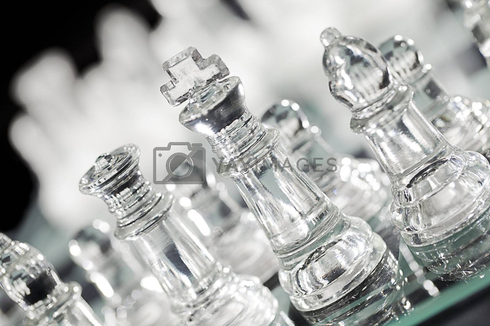 transparent glass chess piece by rusuangela