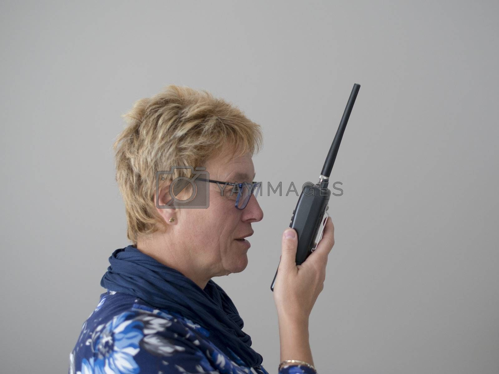 communication by talking in portable radio