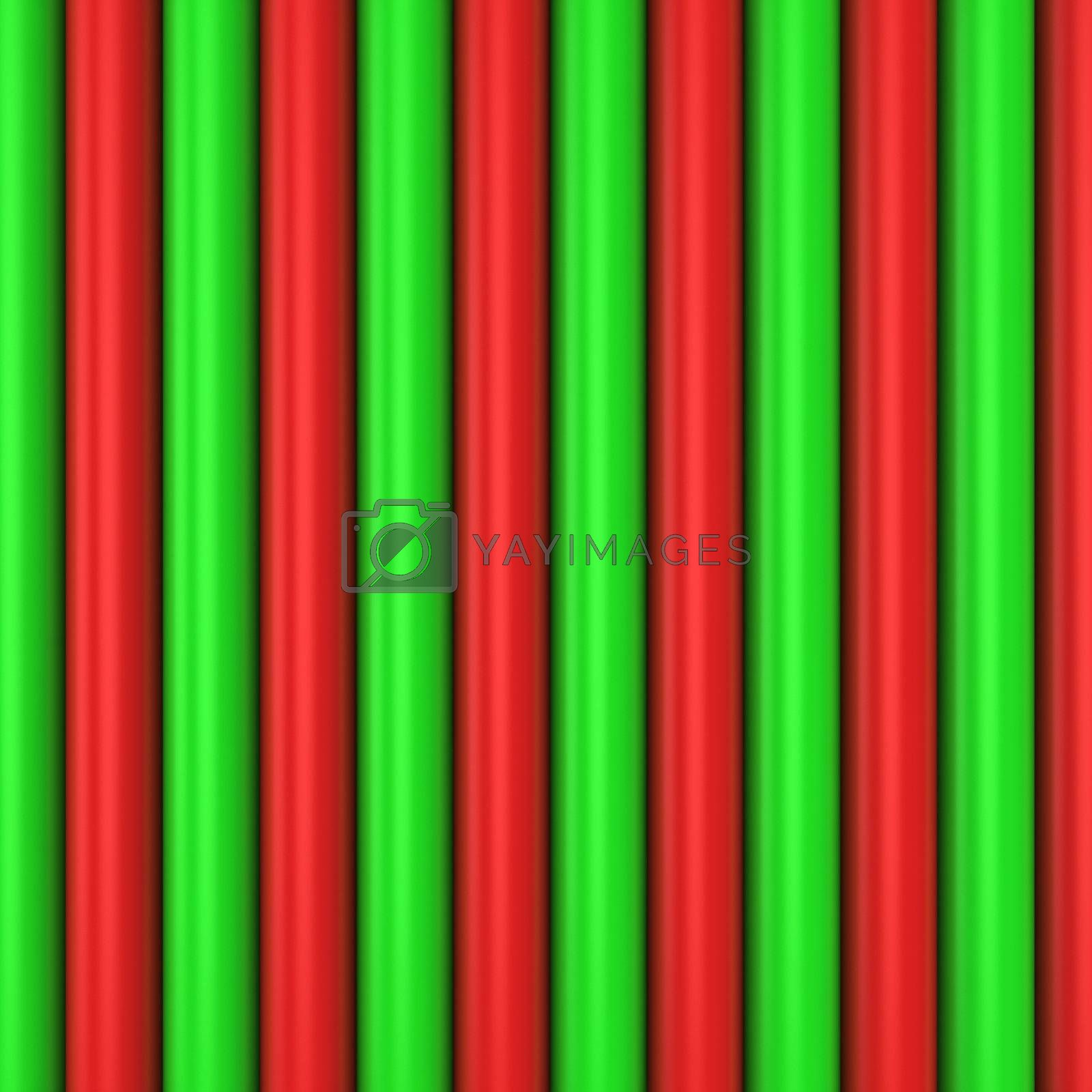 Background made from red and green pipes