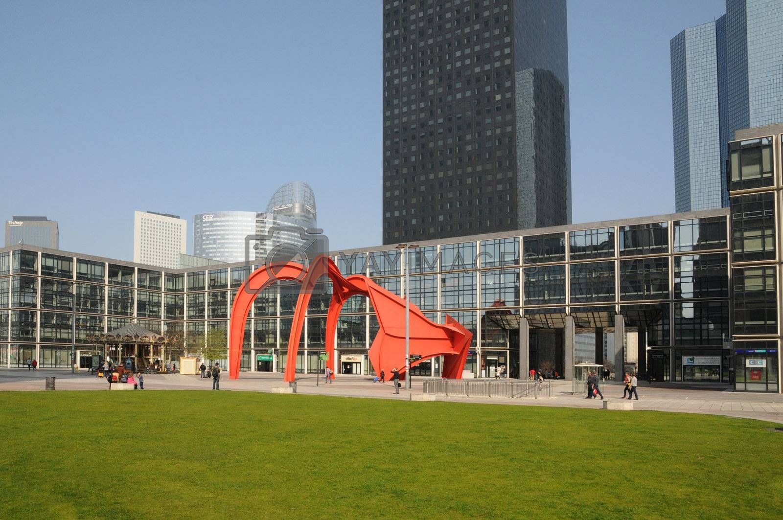 The Red Spider, a sculpture of Calder in La Defense