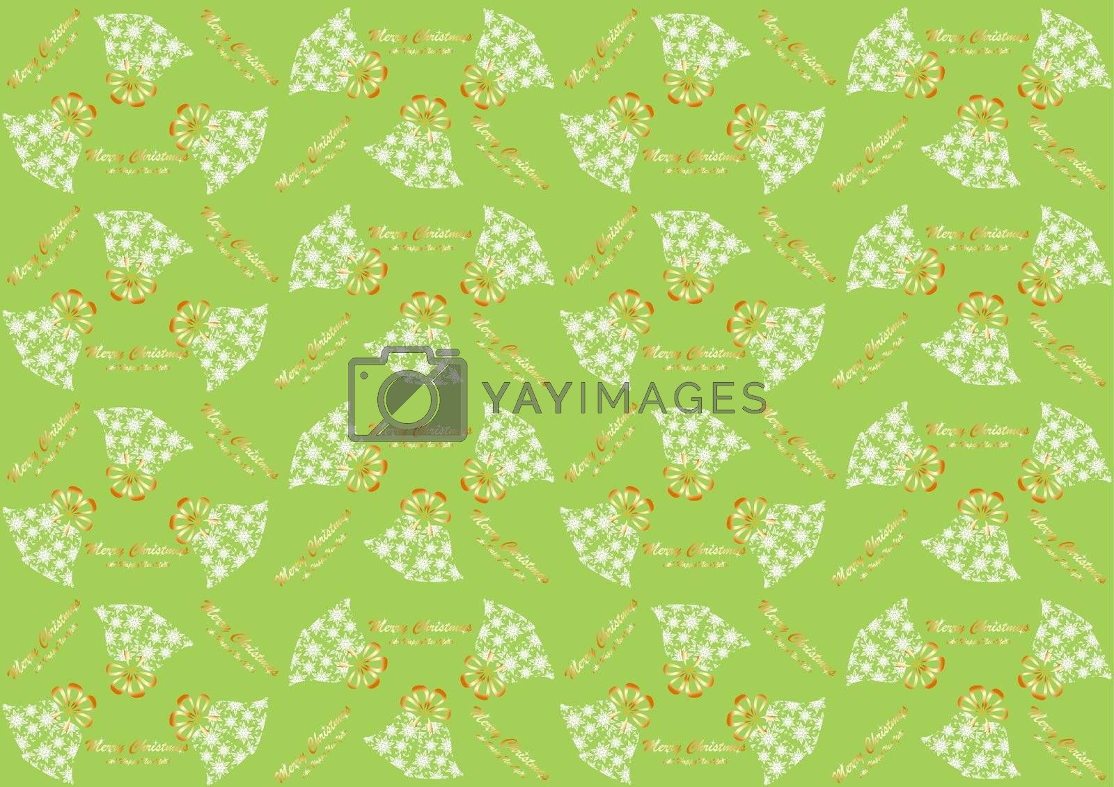 Seamless pattern with Christmas bells for the new year and Christmas
