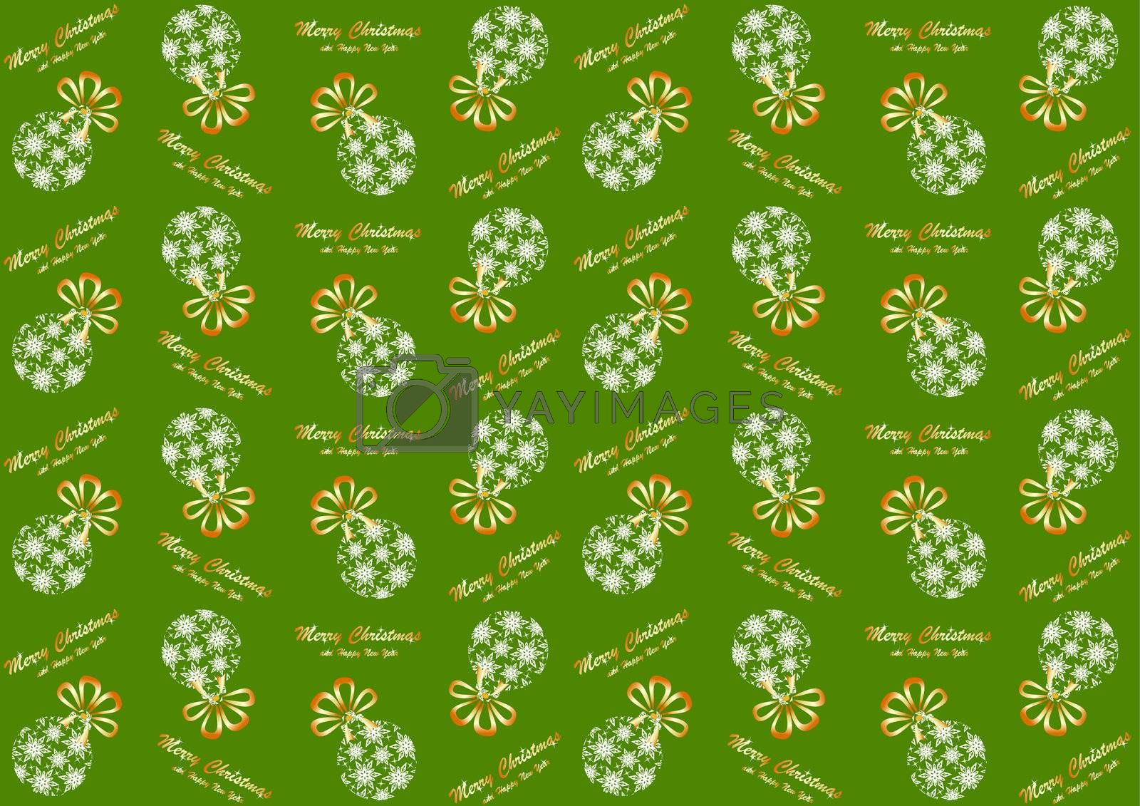 Seamless pattern with Christmas ball  for the new year and Christmas