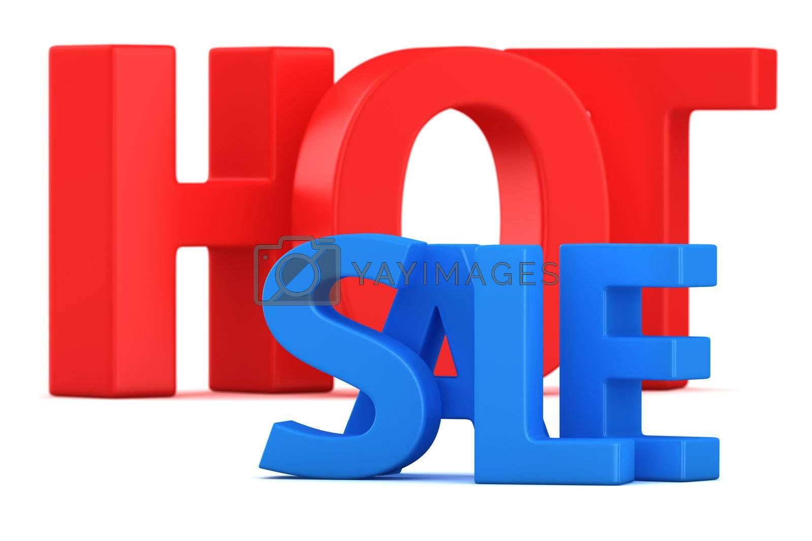 Text Hot sale on the white background