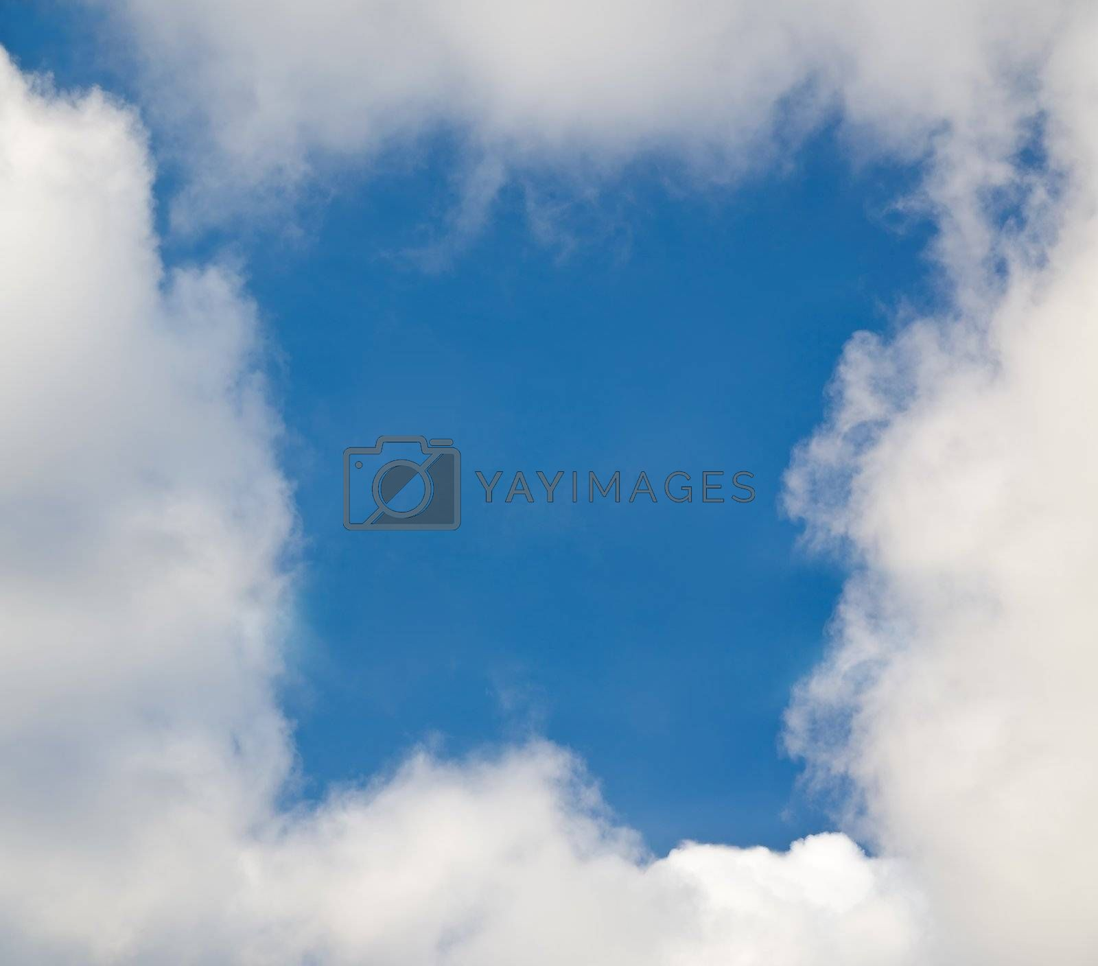 frame of clouds in the blue sky