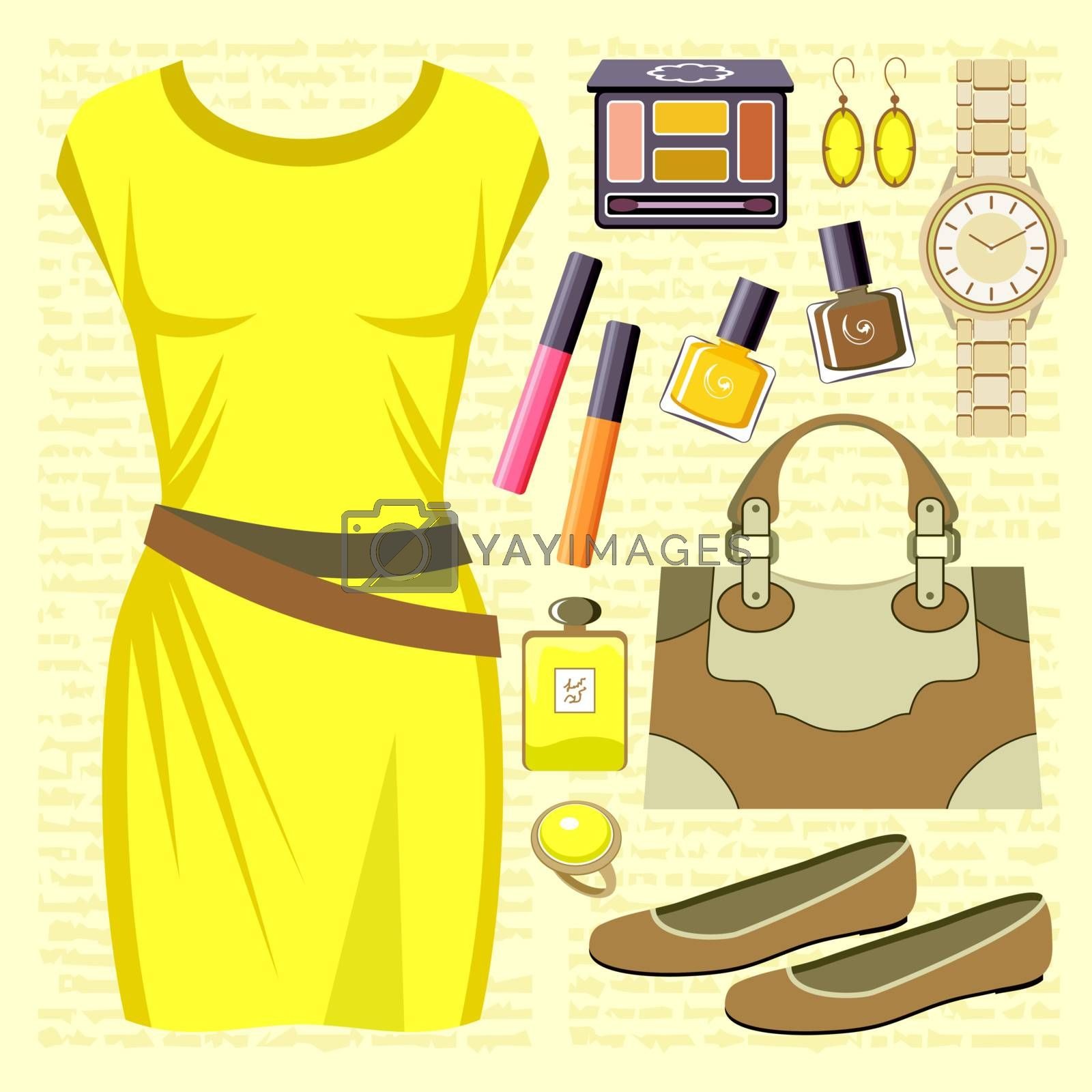 Fashion set with a casual dress by GurZZZa