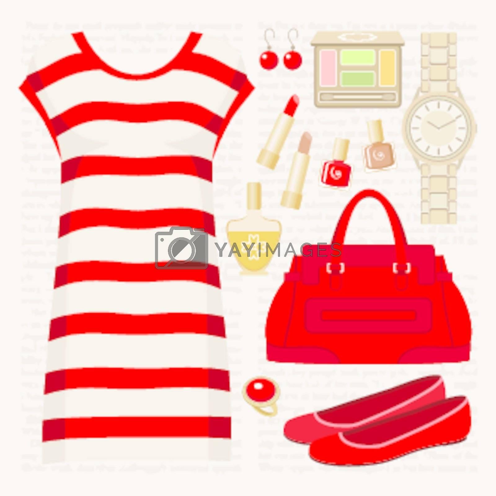 Fashion set with a tunic