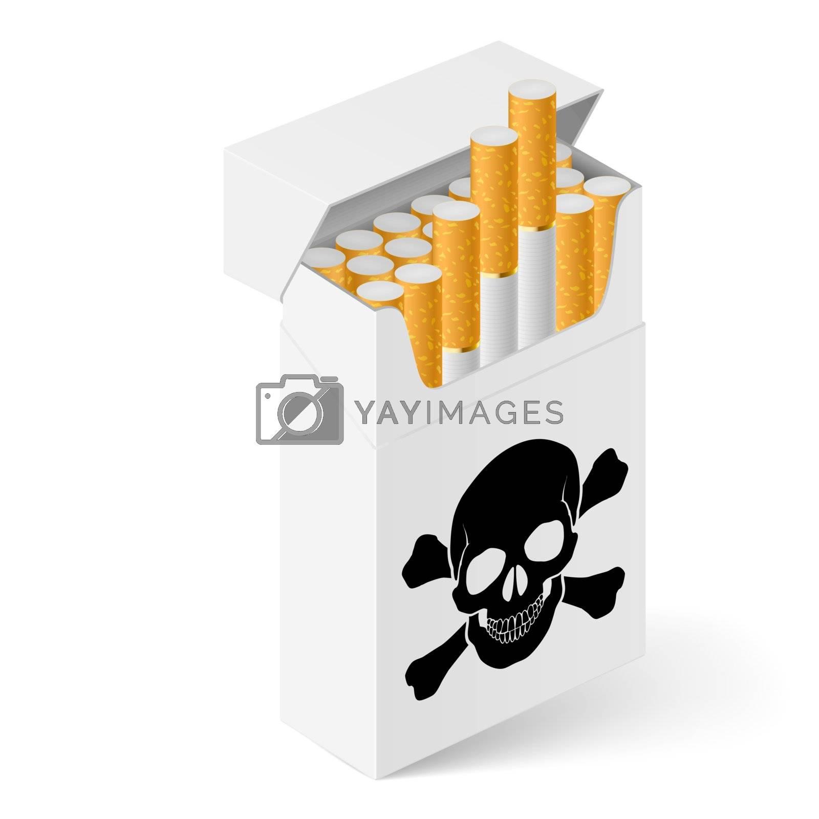 White Pack of cigarettes by dvarg