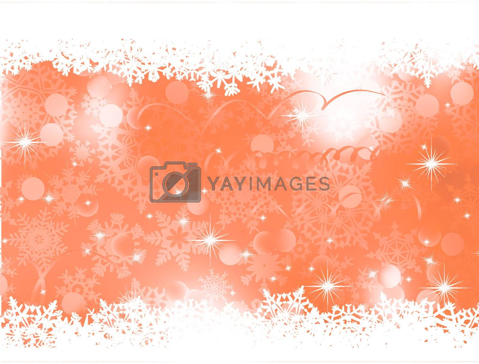 Orange Christmas Background. EPS 8 by Petrov_Vladimir