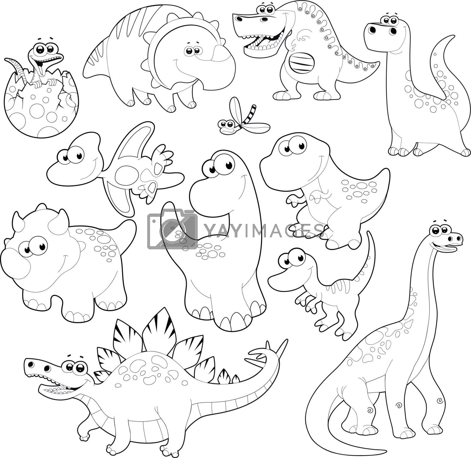 Dinosaurs Family. by ddraw