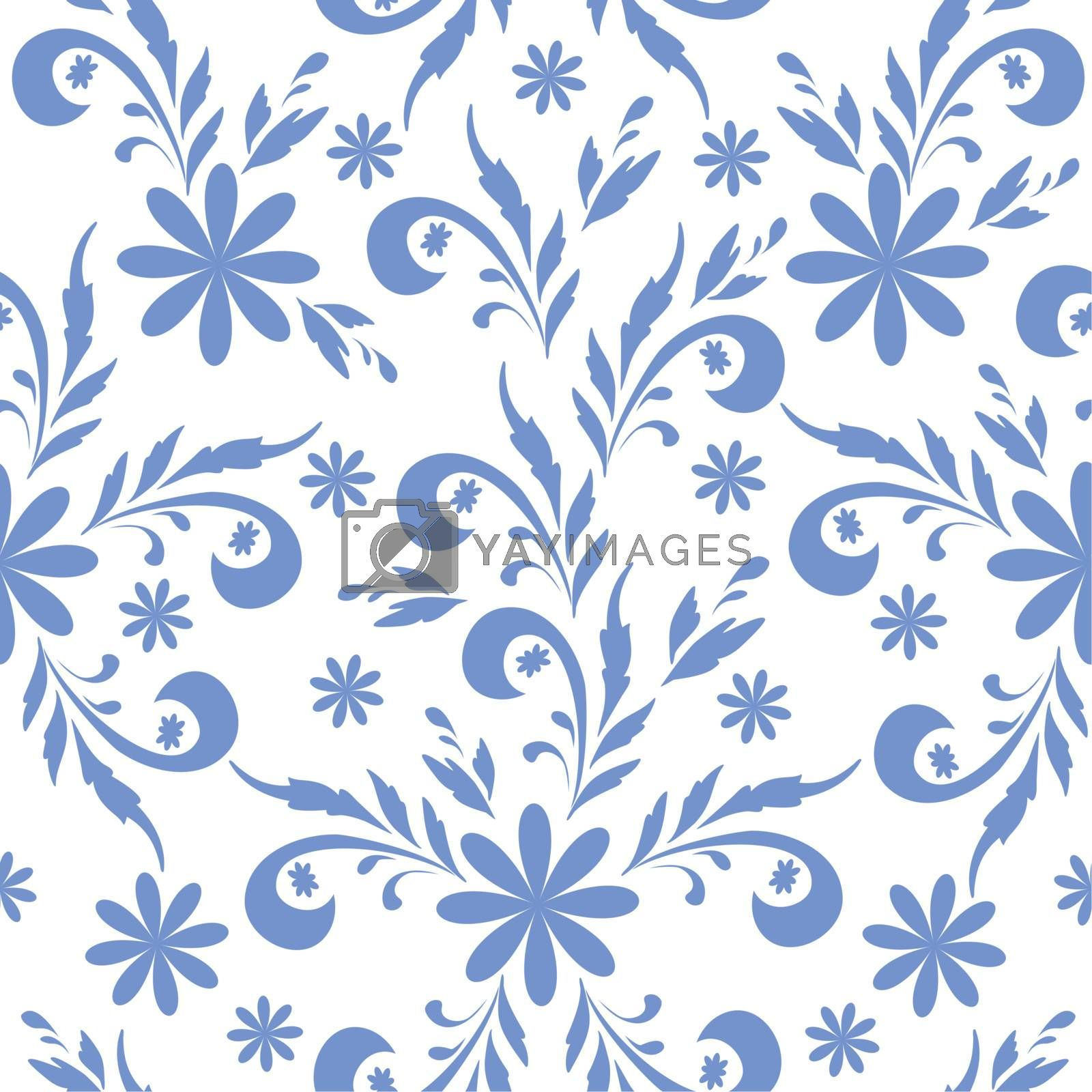 Seamless floral background by alexcoolok