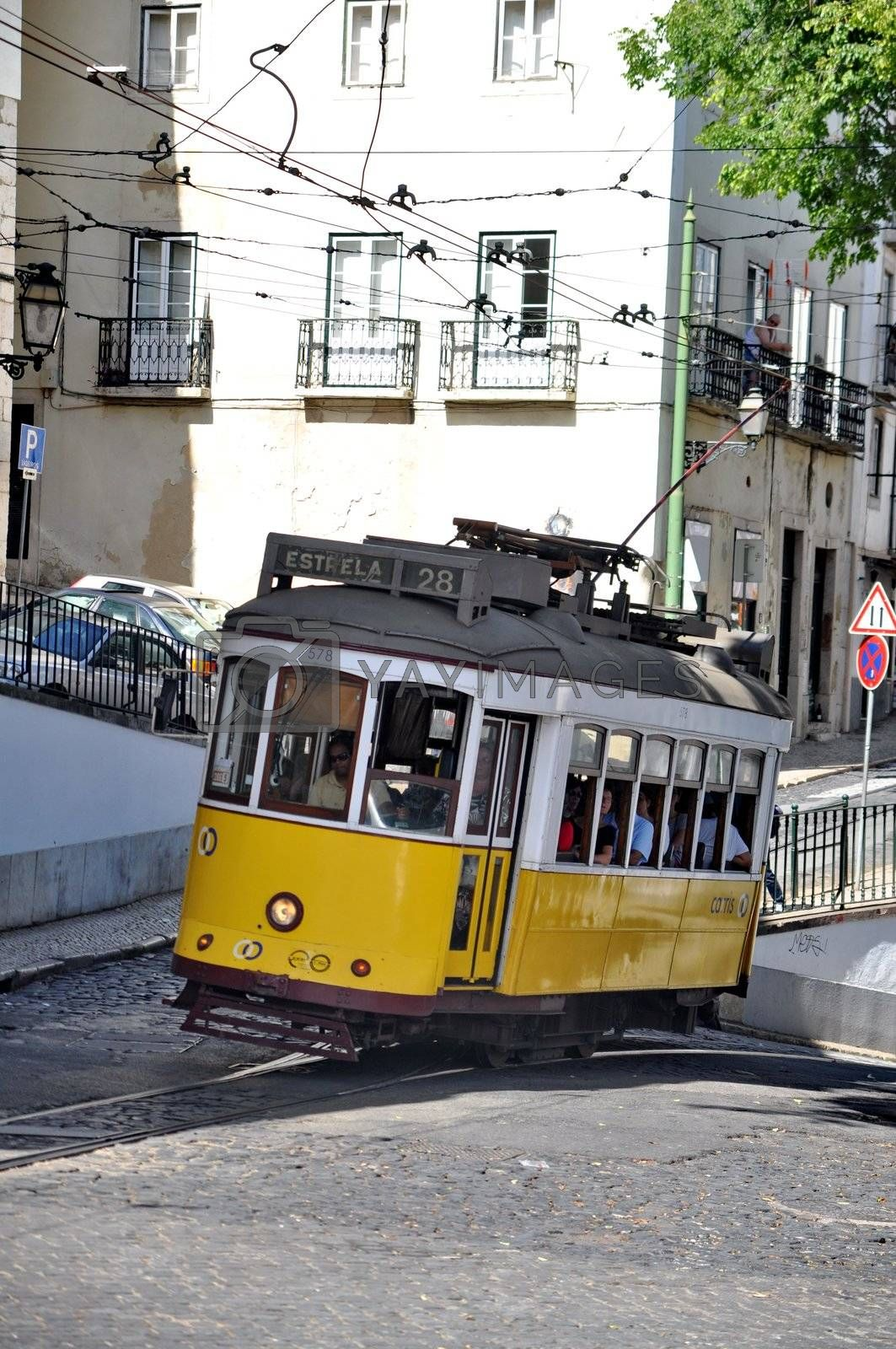 The famous line 28 tram in Lisbon, Portugal by anderm
