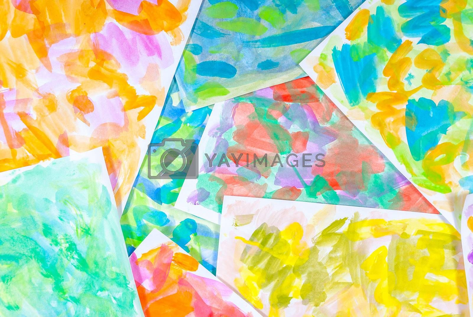 Abstract water color paints colorful background