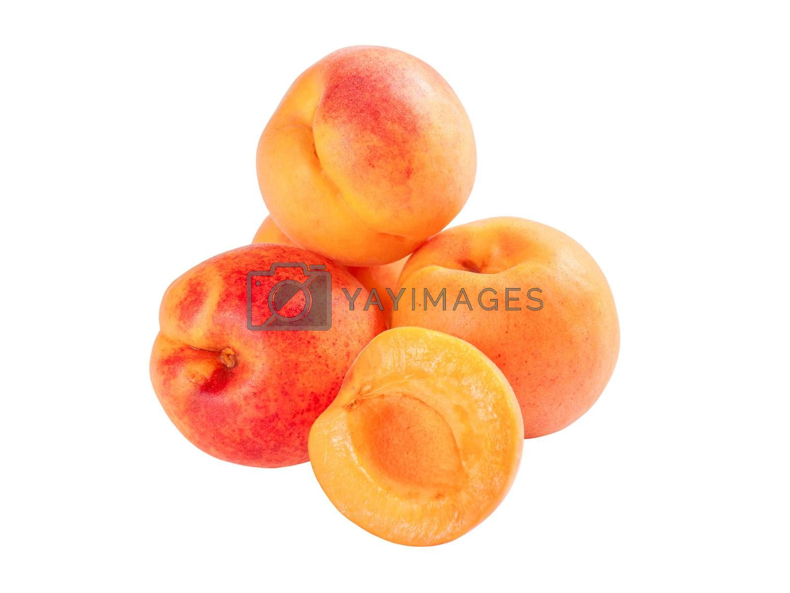 Group ripe apricot by firewings