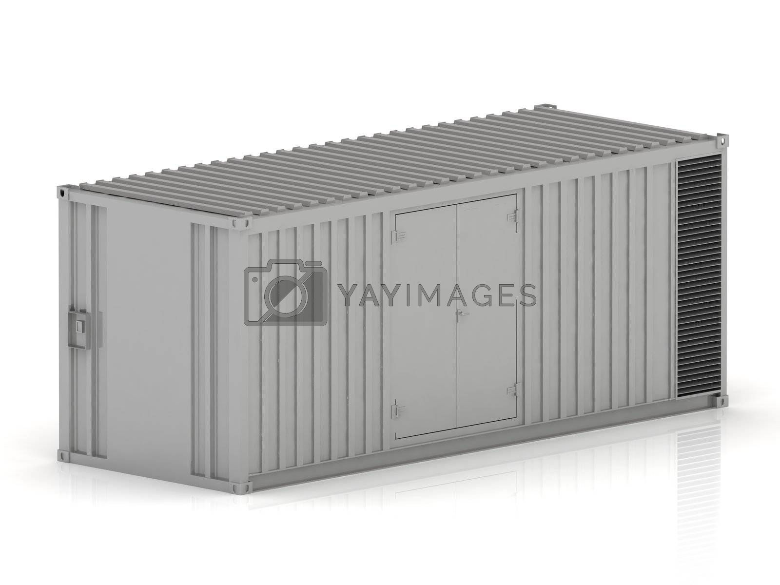 3D cargo container on a white background