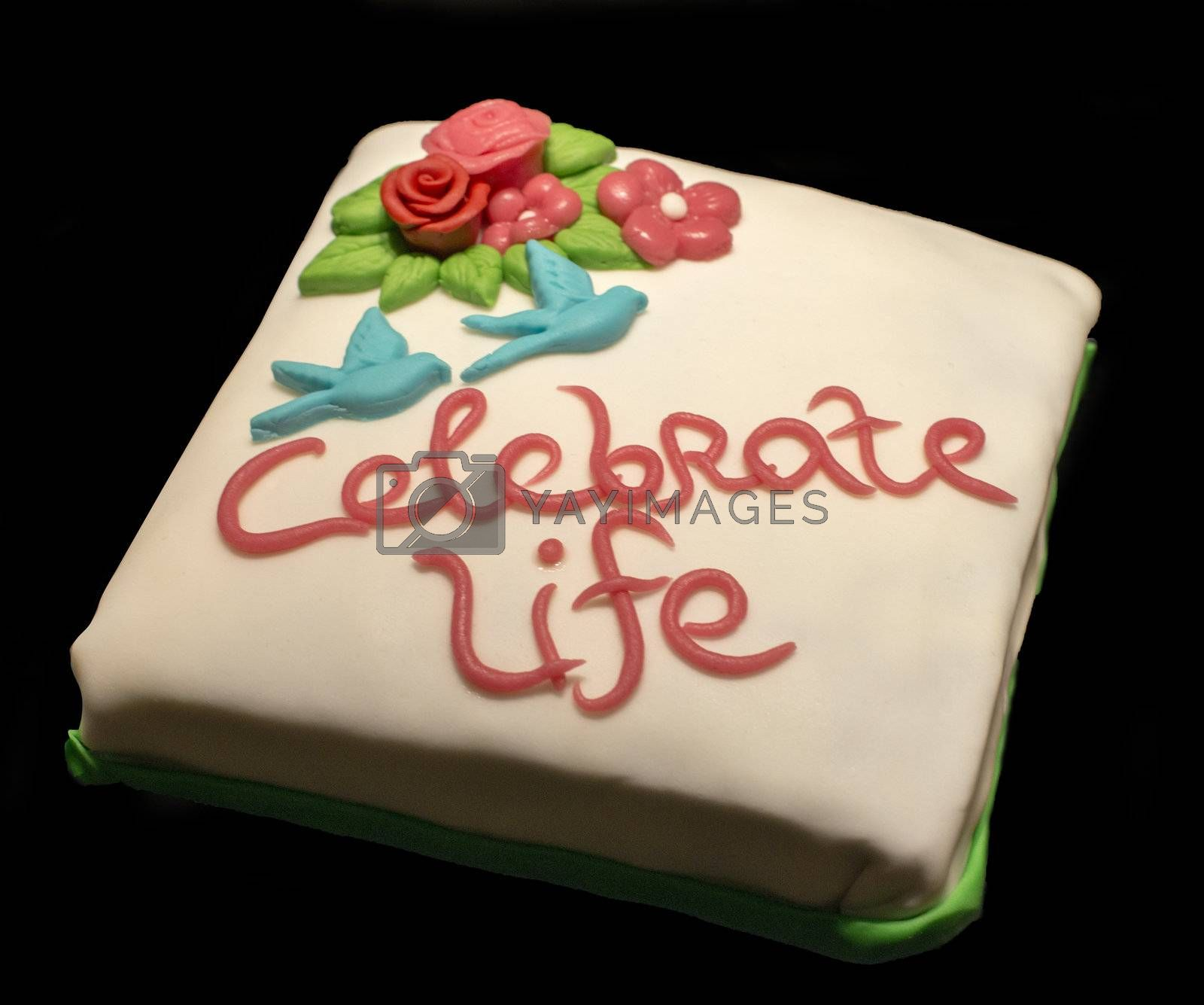 celebrate life cake by compuinfoto