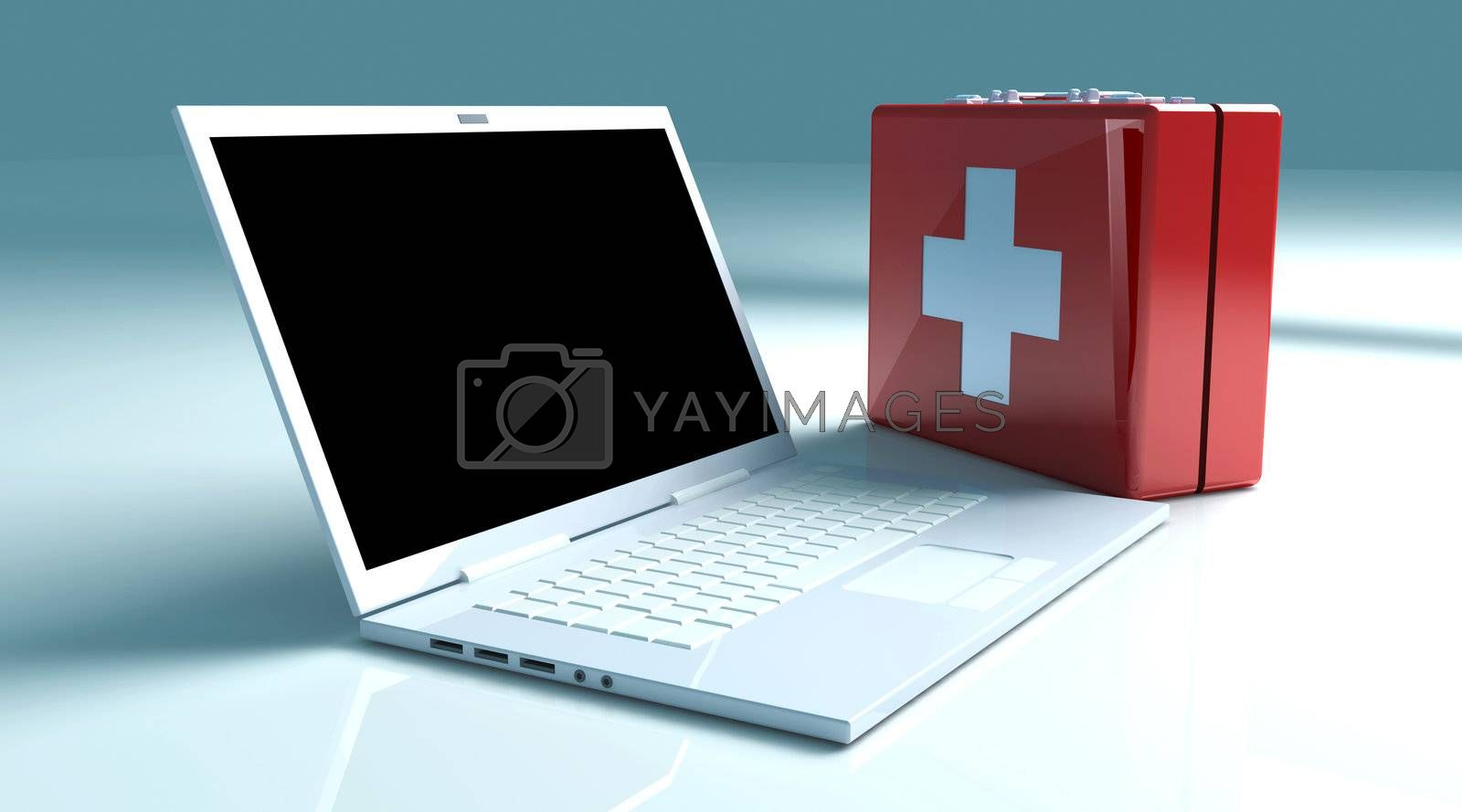 Laptop First aid by Spectral