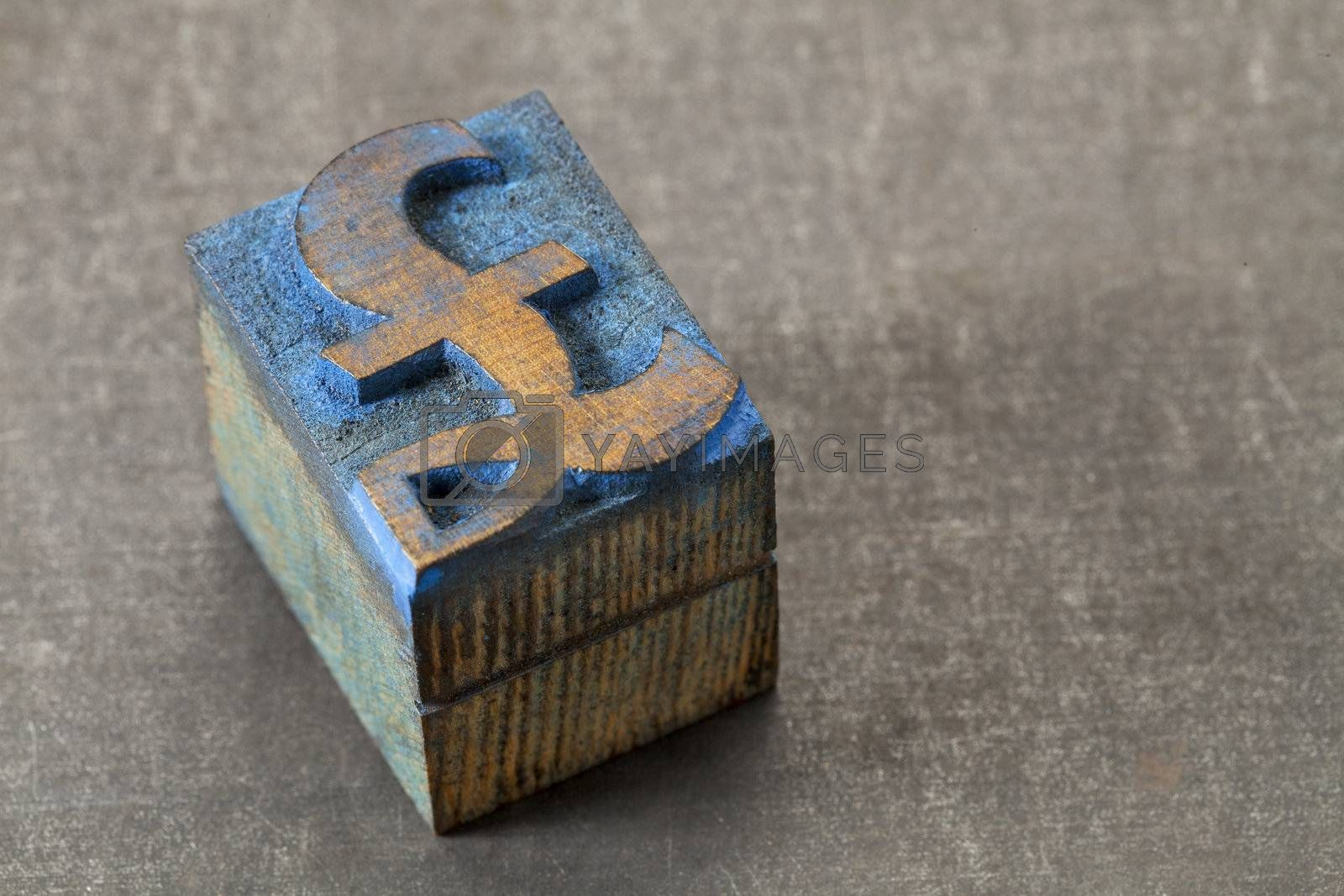 pound symbol - wood type block by PixelsAway