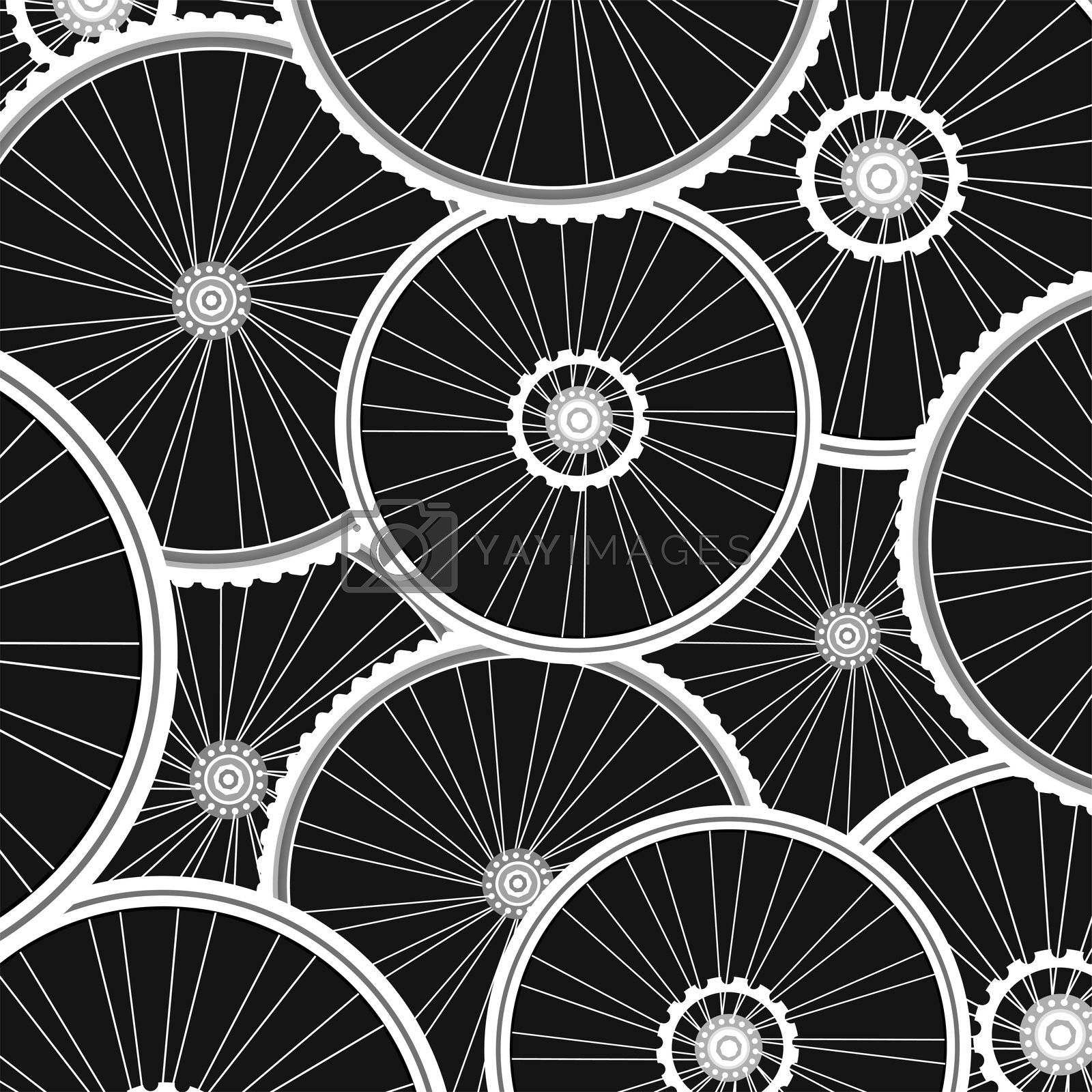 bicycle wheels pattern - sports background by fotoscool