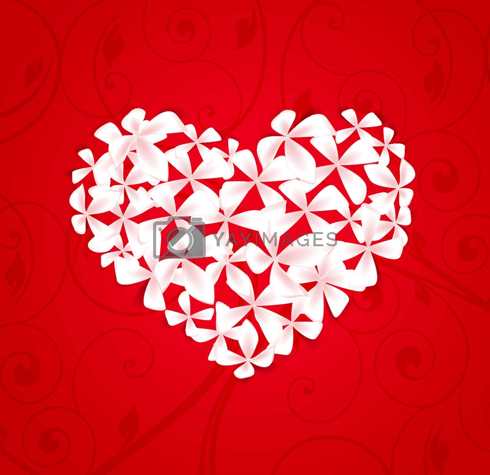 floral heart by odina222