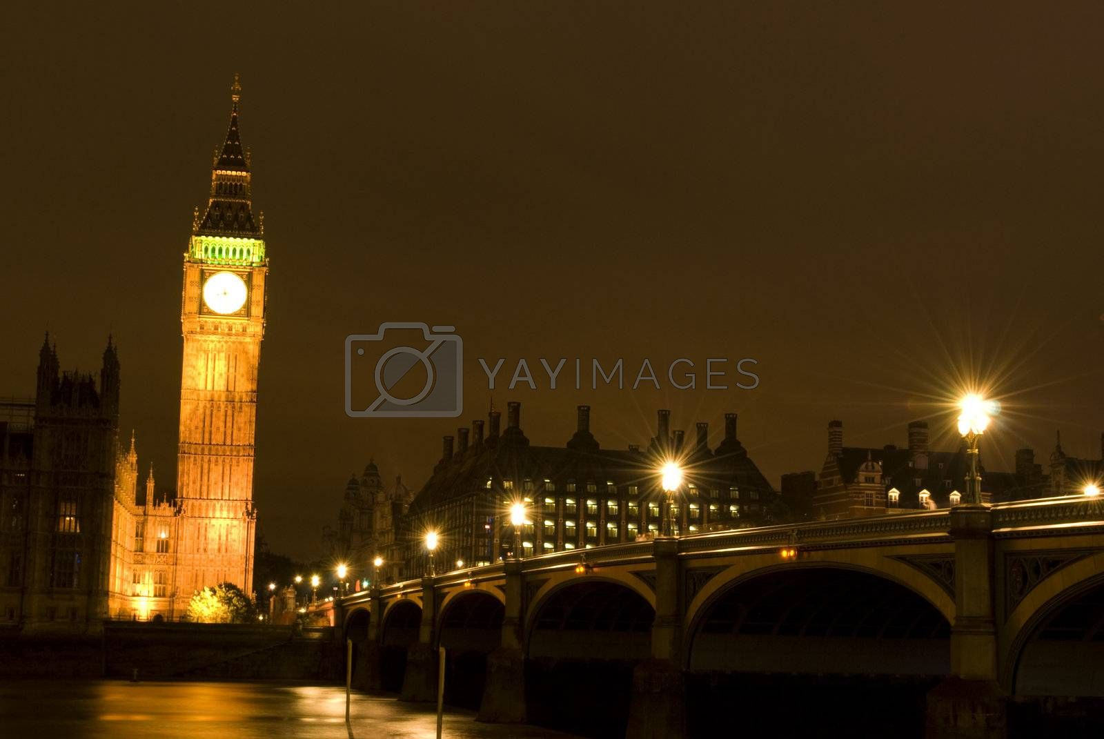 Big Ben at night London UK by Dessie_bg