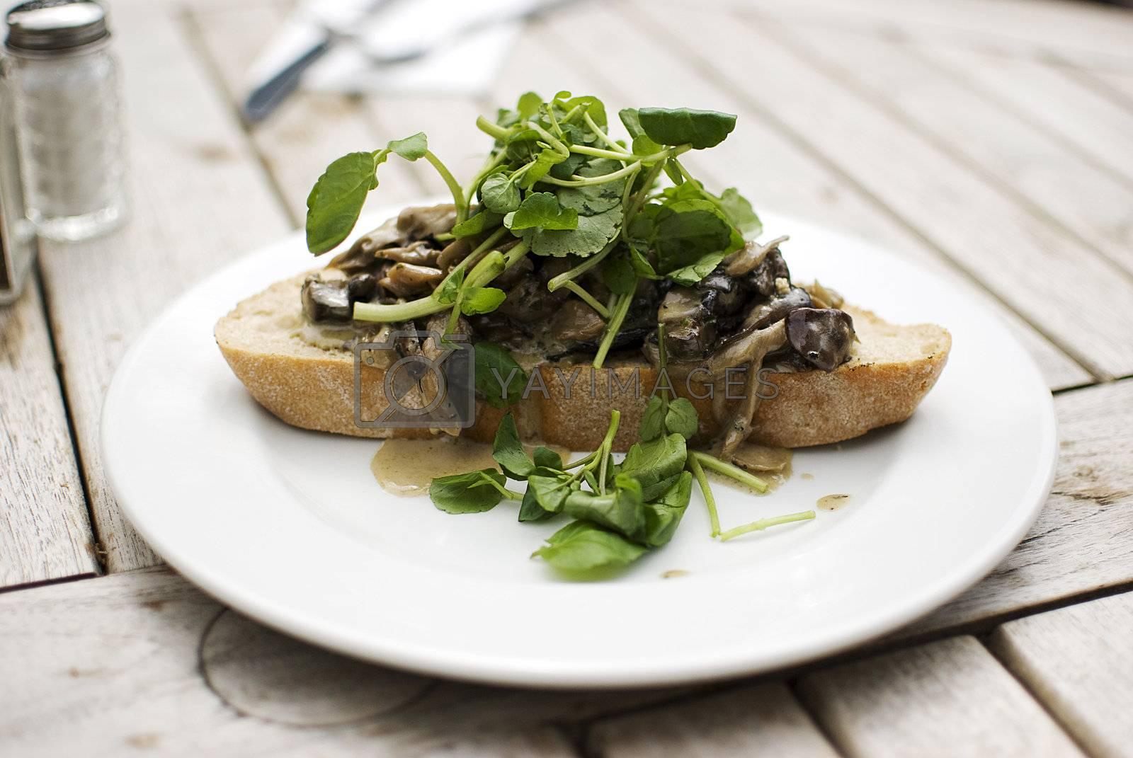 Mushrooms on toast by Dessie_bg