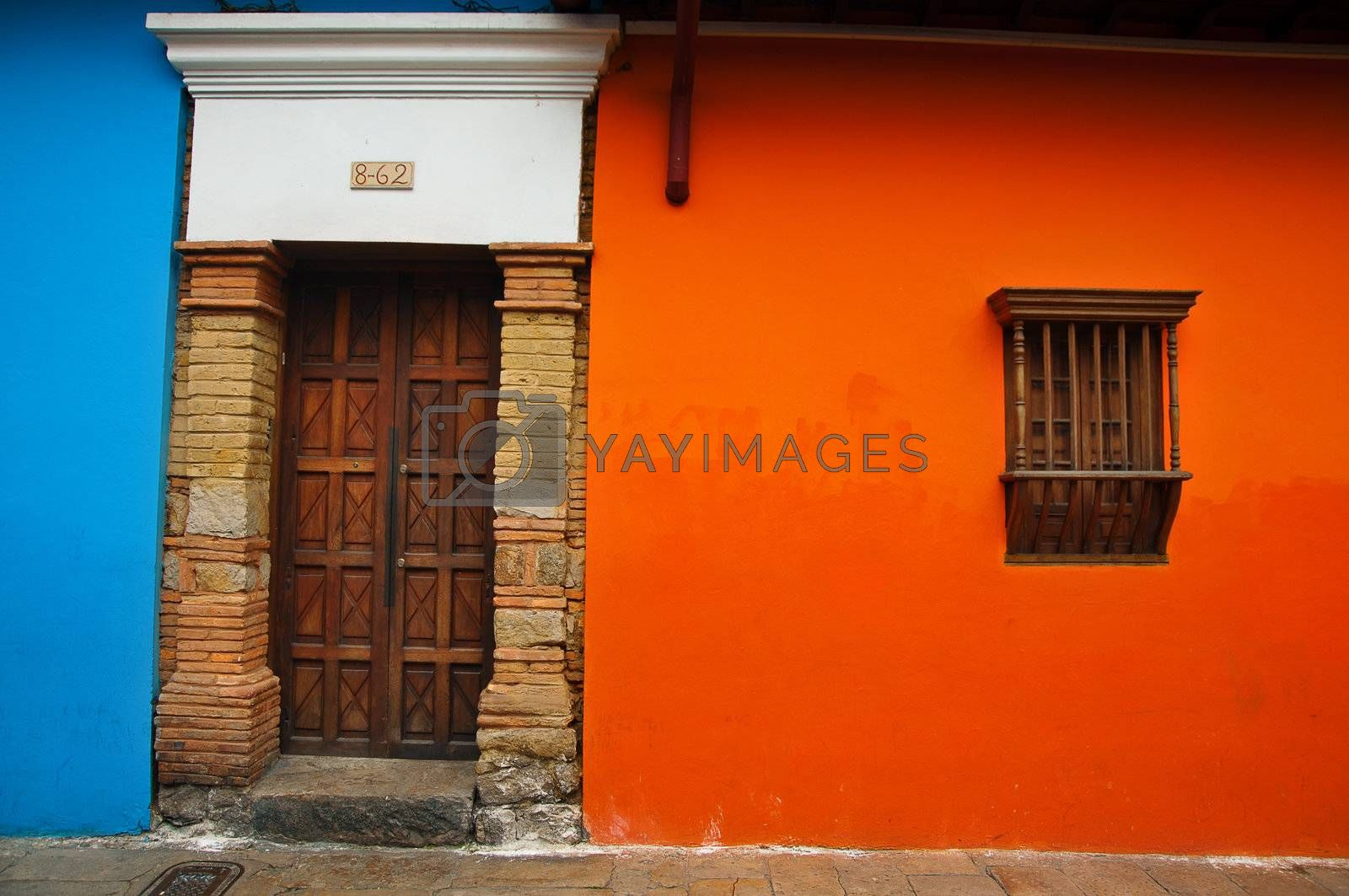 Orange and Blue Colonial Wall by jkraft5