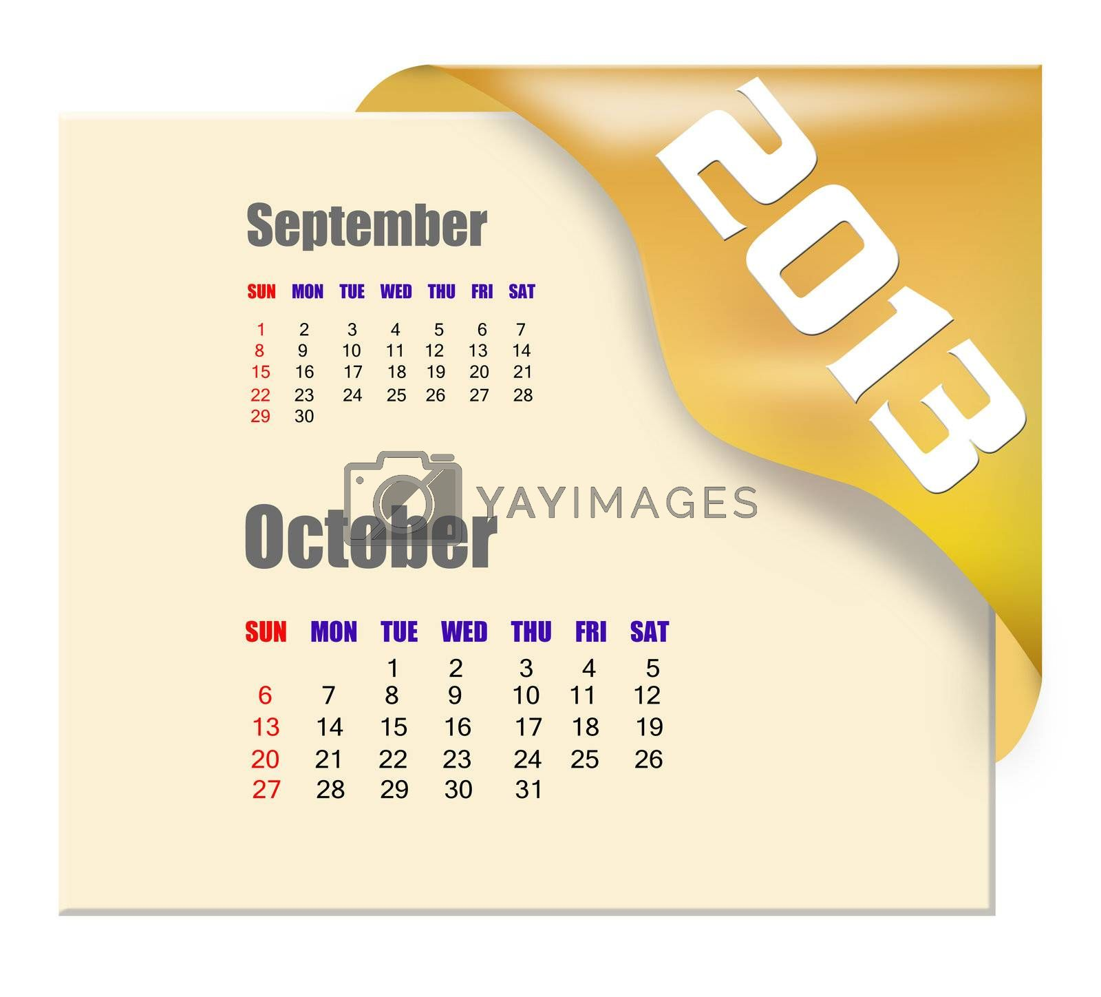 2013 October calendar  by payphoto
