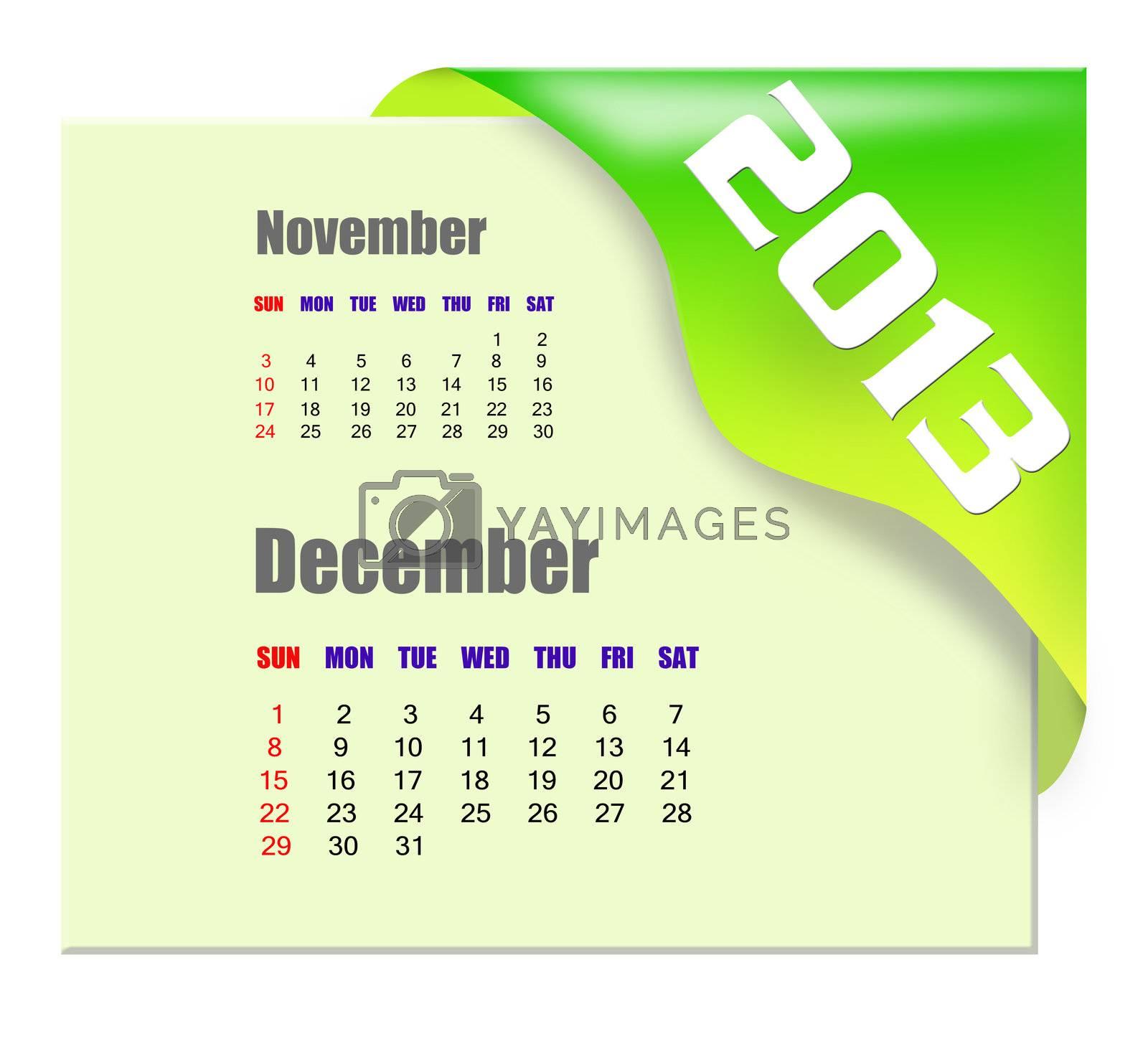 2013 December calendar  by payphoto