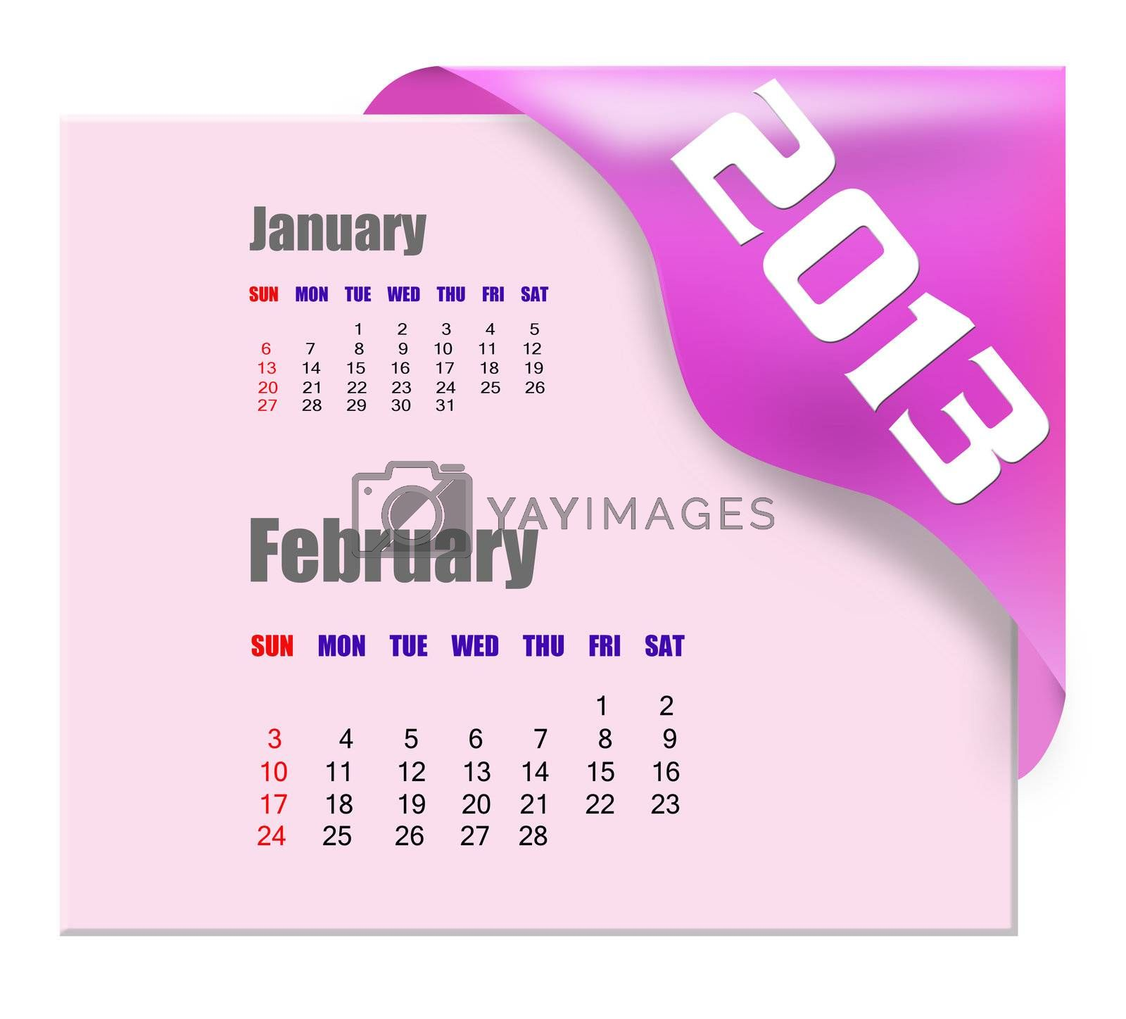 2013 February calendar  by payphoto
