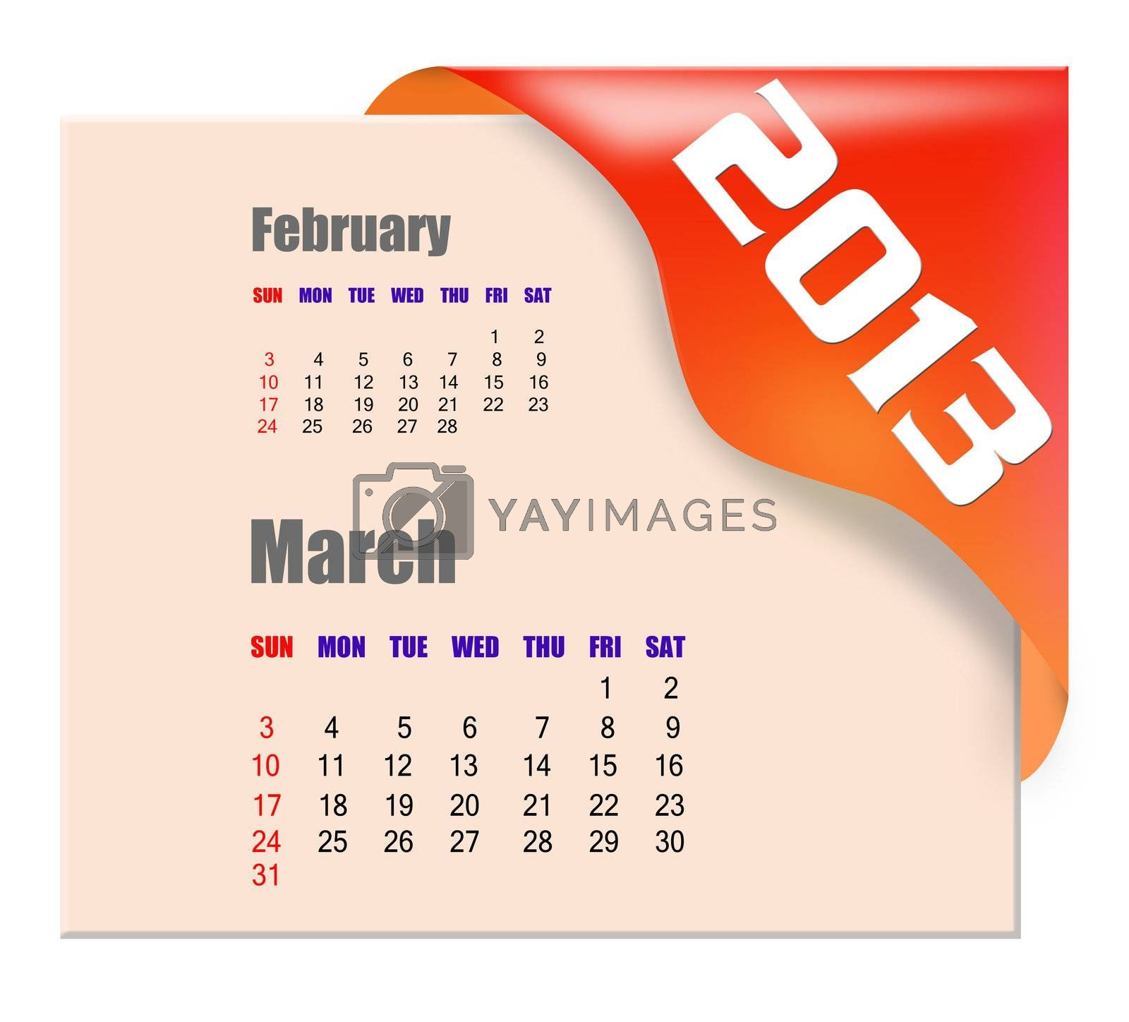 2013 March calendar  by payphoto
