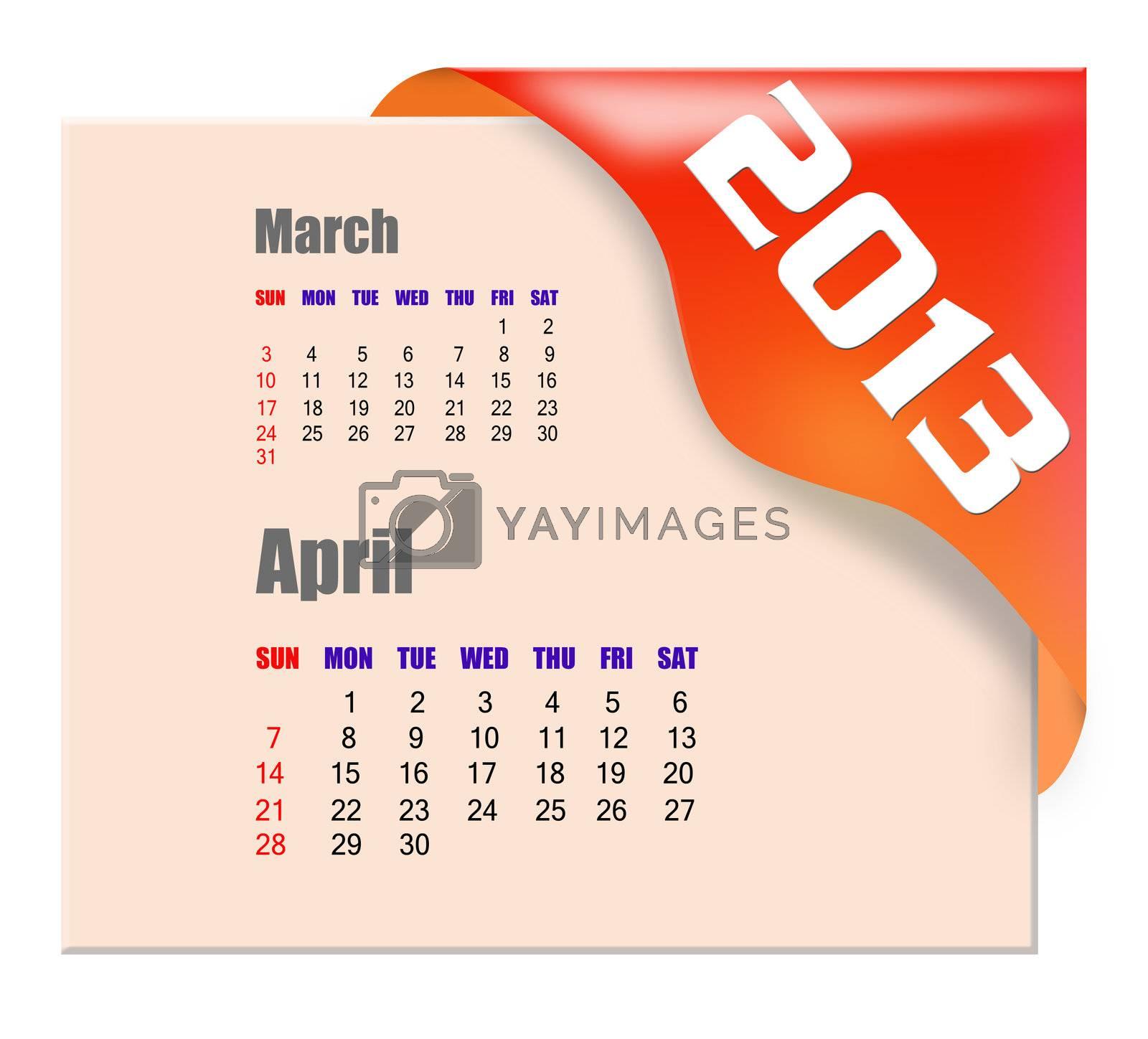 2013 April calendar  by payphoto