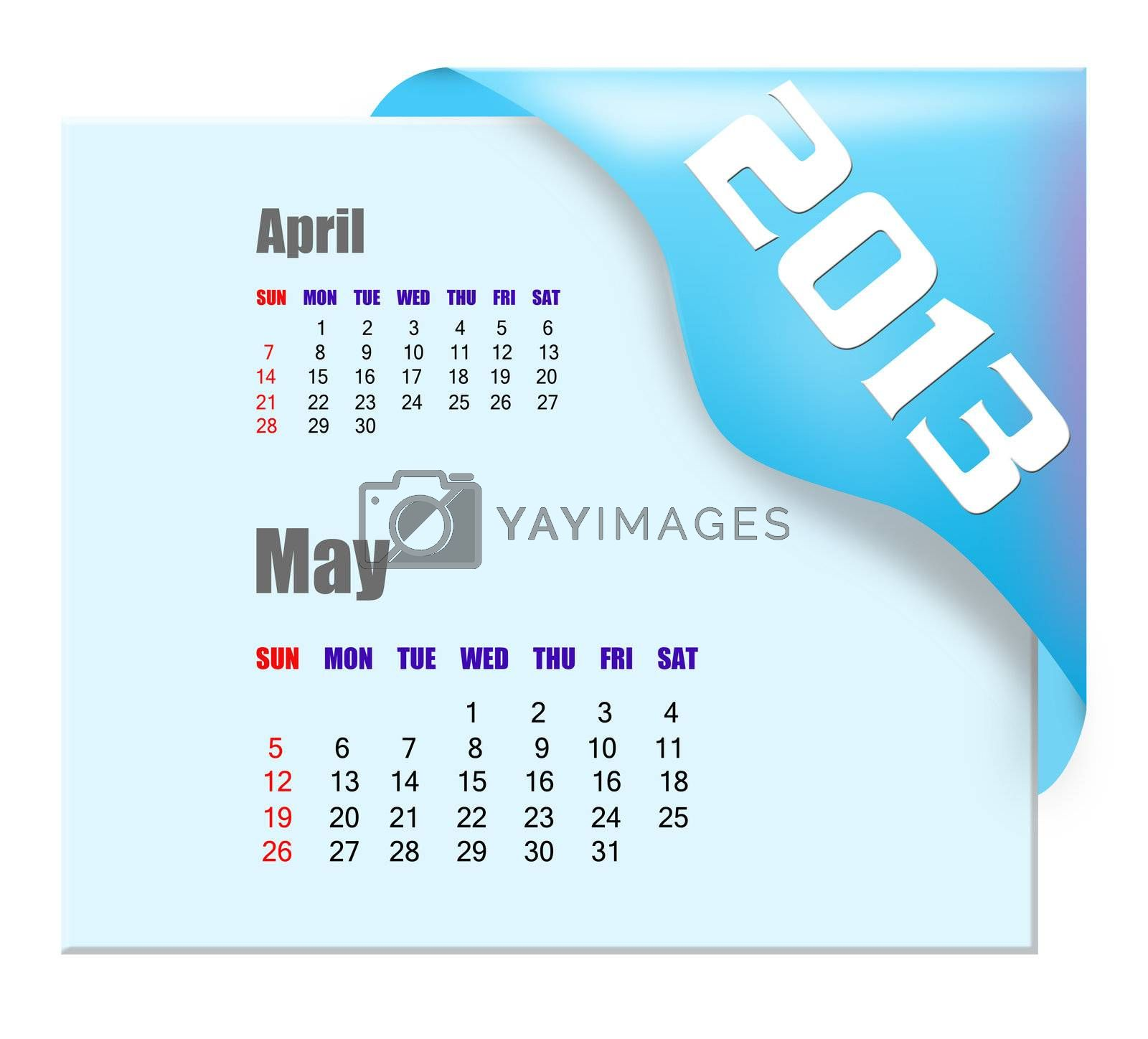 2013 May calendar  by payphoto
