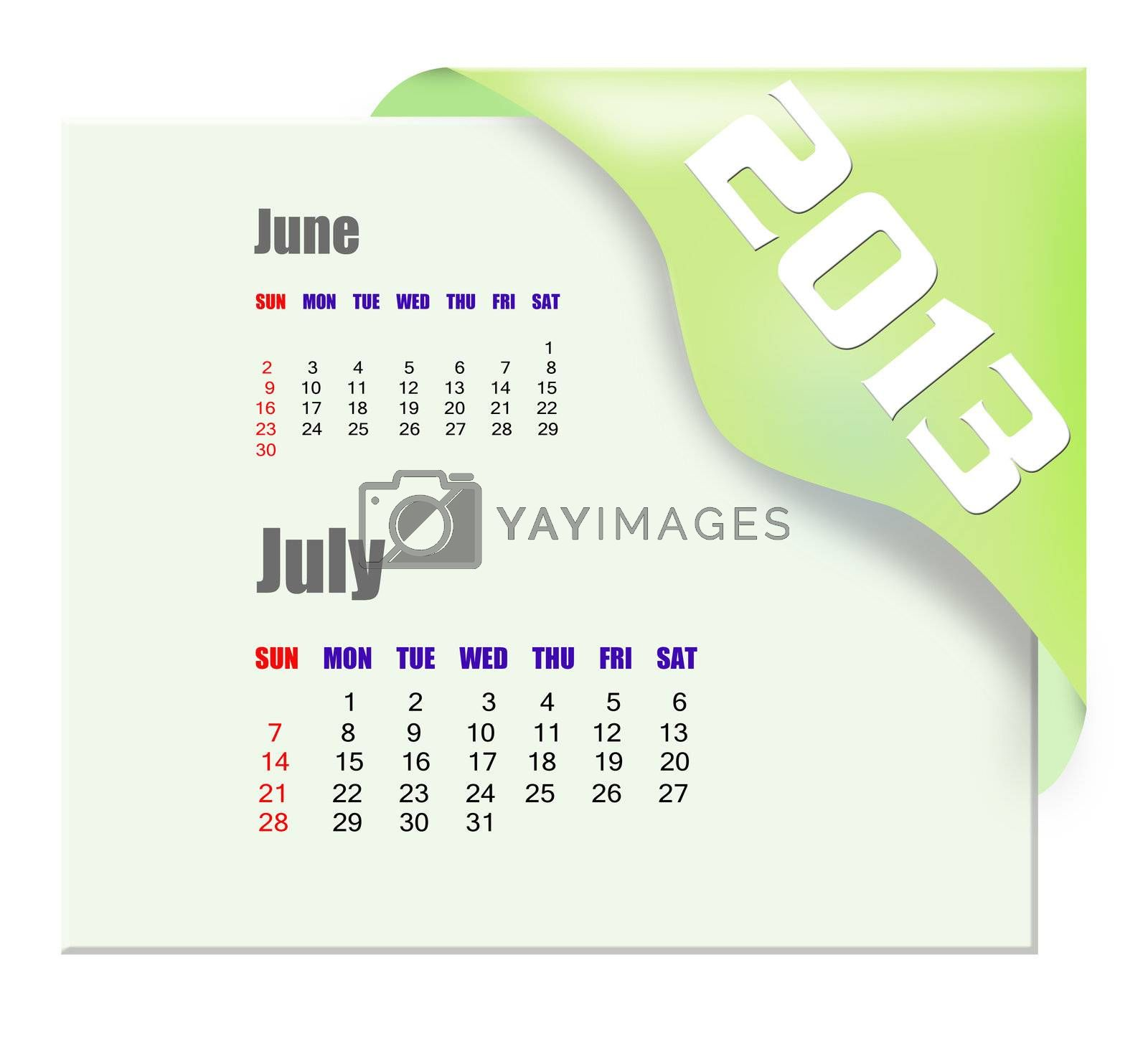 2013 July calendar  by payphoto