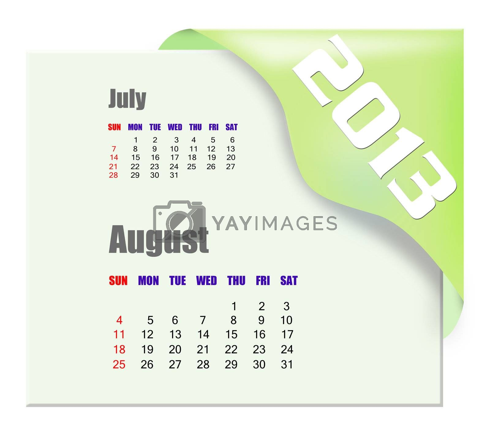 2013 August calendar  by payphoto
